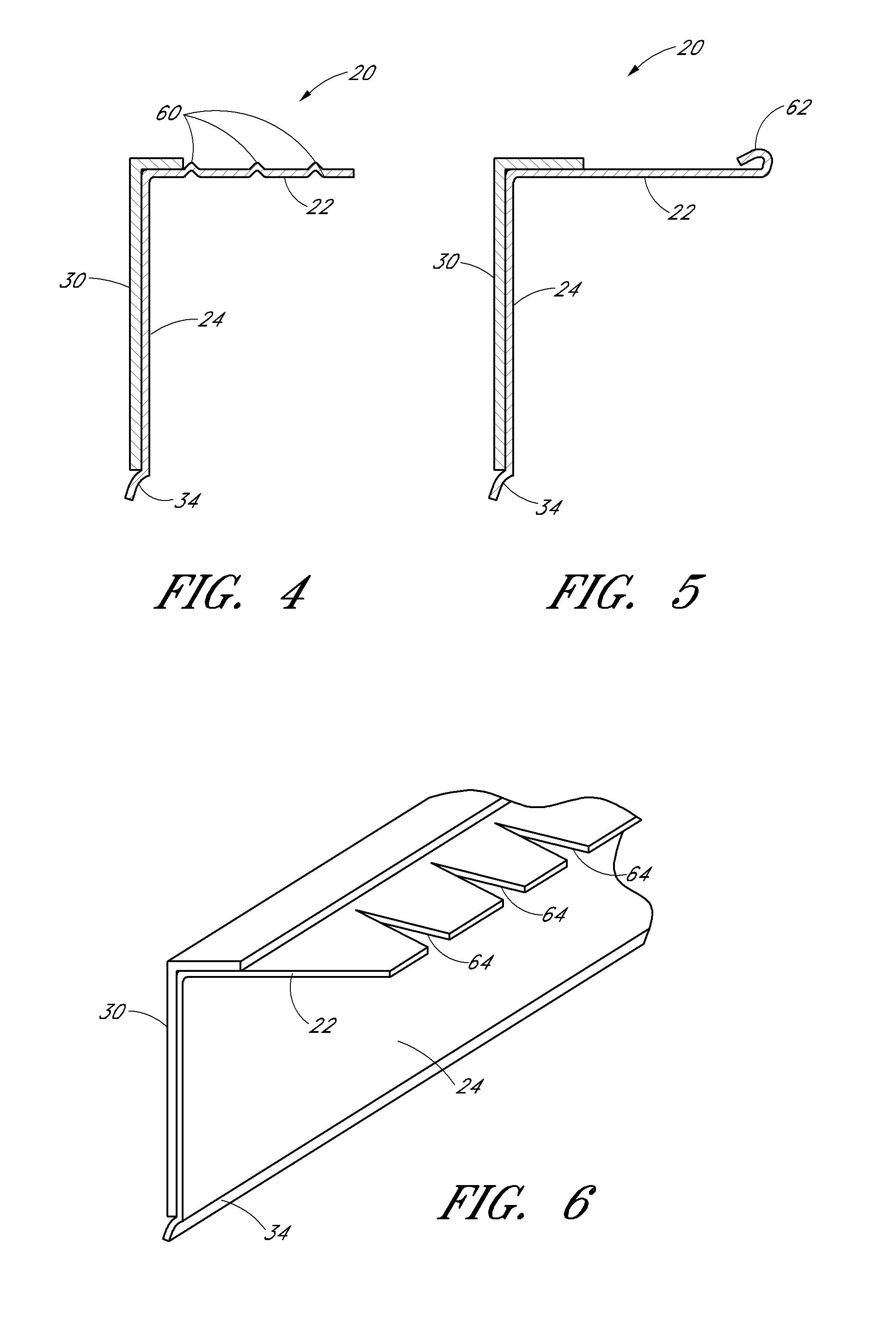 how to create a angle iron wood header fo rwindow