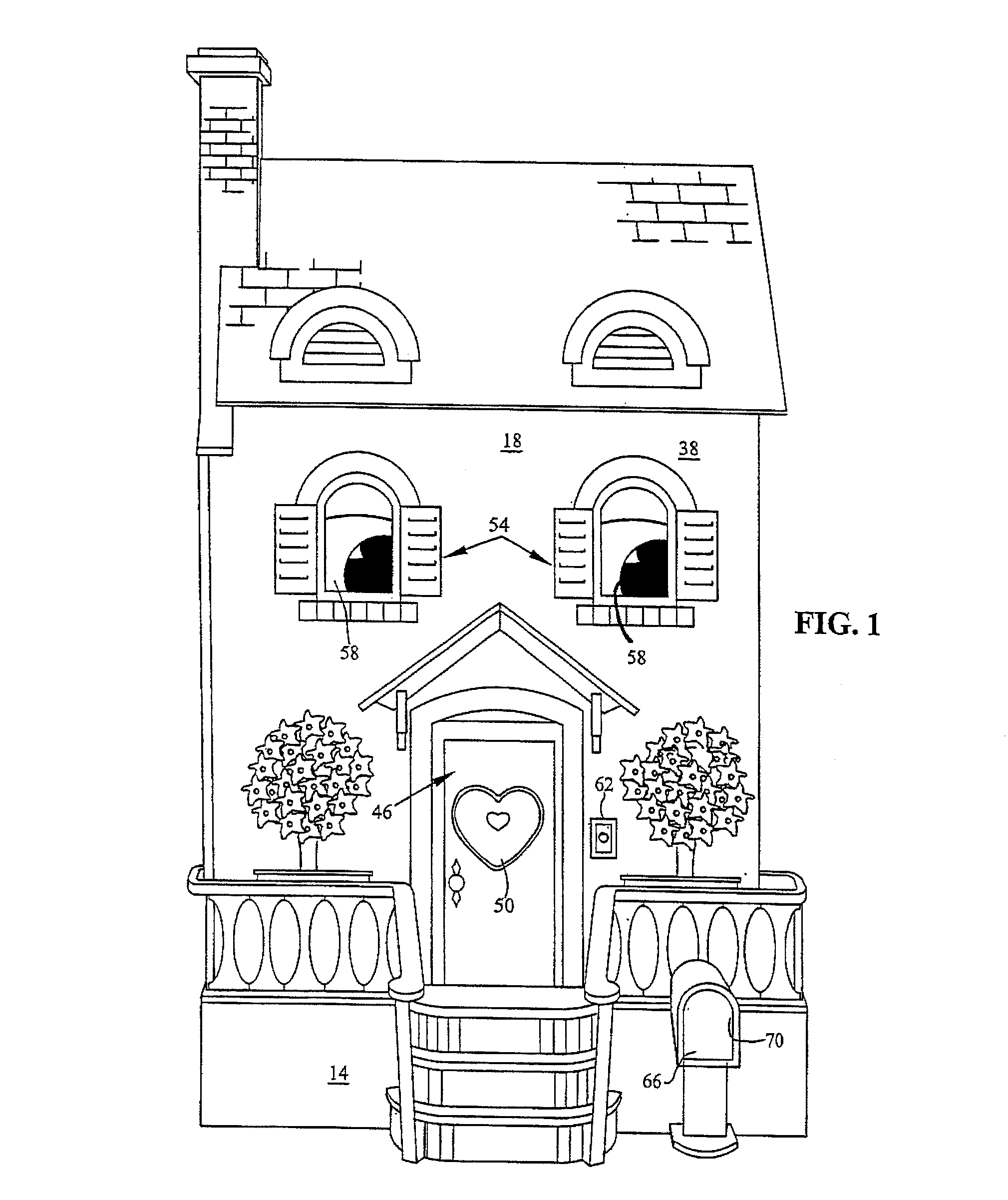 patent us8608529 - dollhouse and method of folding the dollhouse