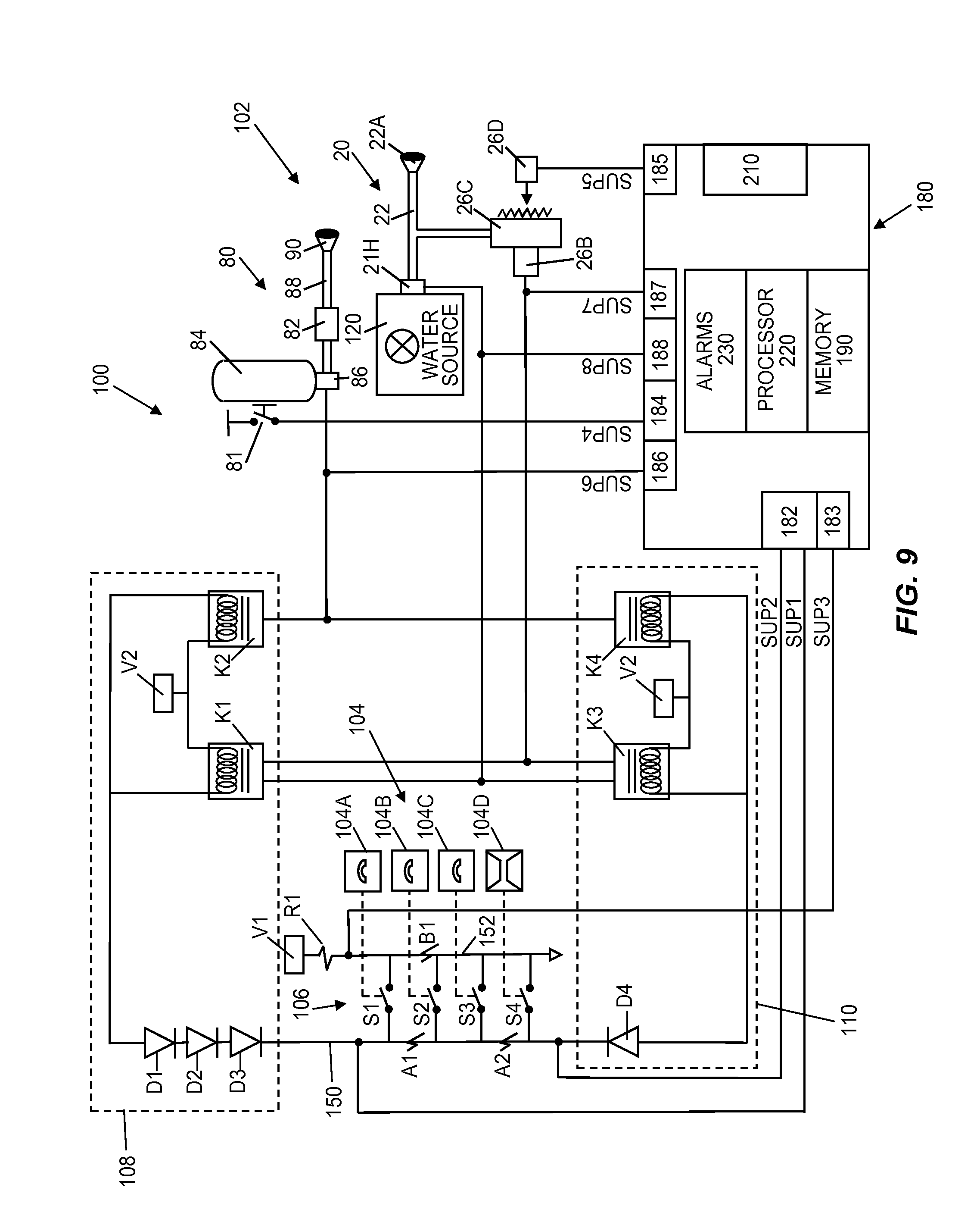 US08610601 20131217 D00010 patent us8610601 kitchen hood assembly with fire suppression ansul micro switch wiring diagram at bayanpartner.co