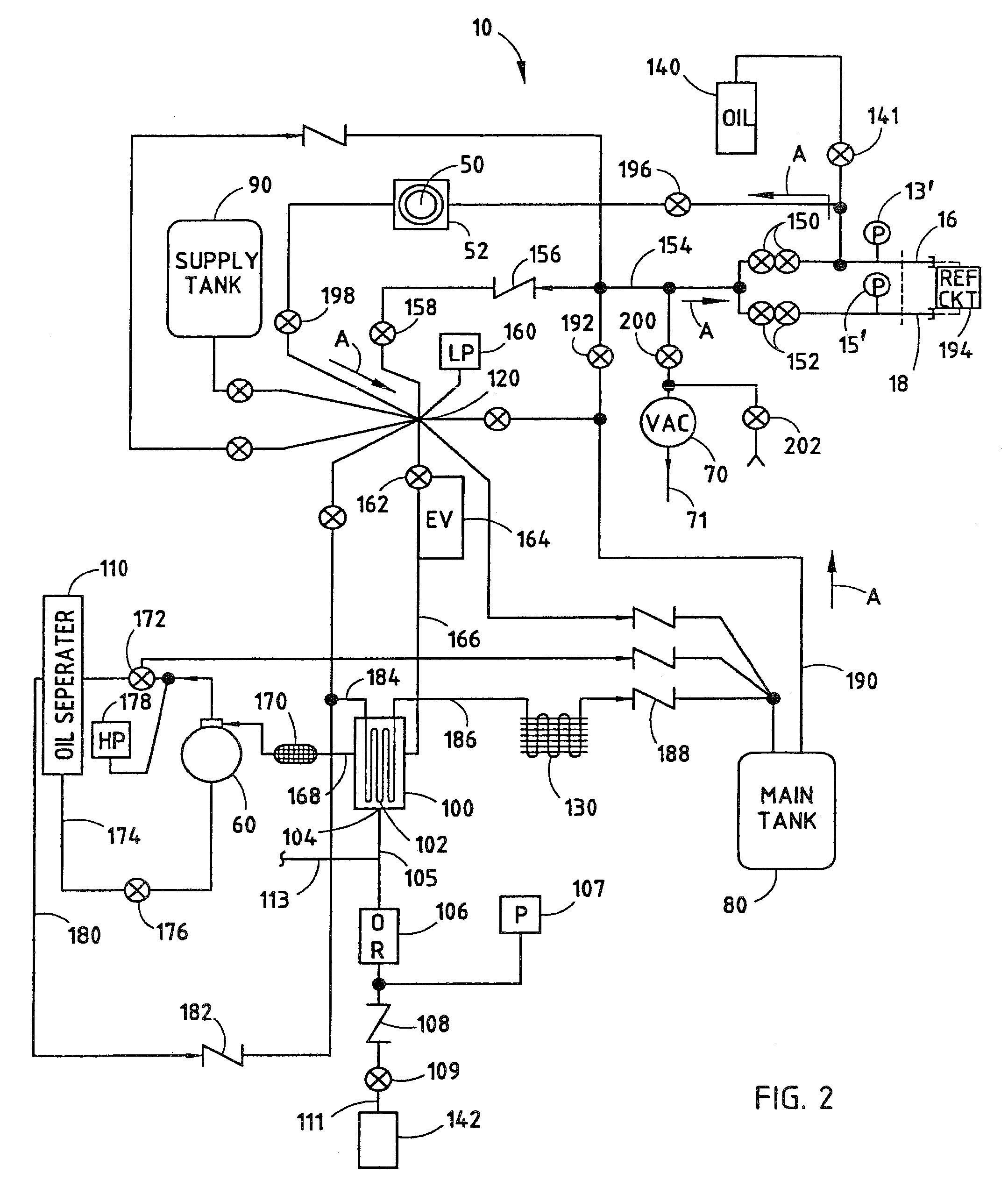 Patent Us8616011 Internal Clearing Function For A Refrigerant Accumulator Tank Schematic Drawing