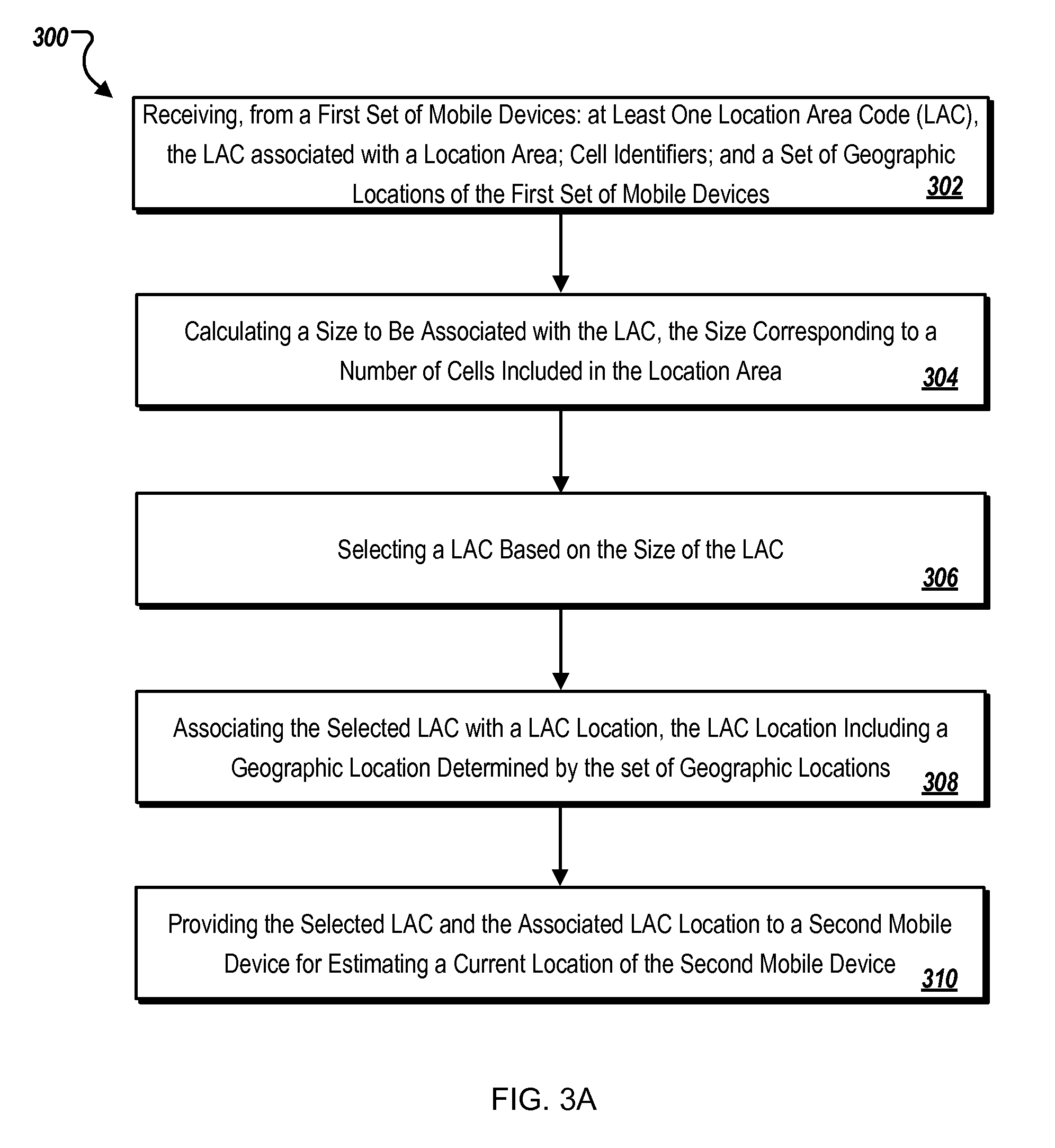 Patent US8634860  Location determination using cached location