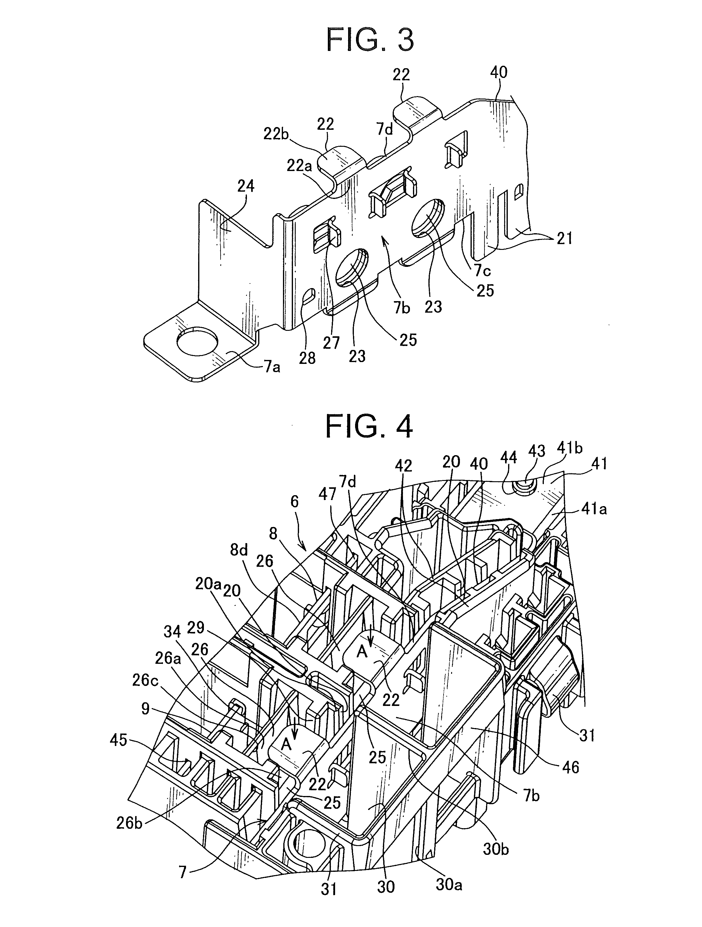 patent us8641430 - bus bar edge structure of electric junction box