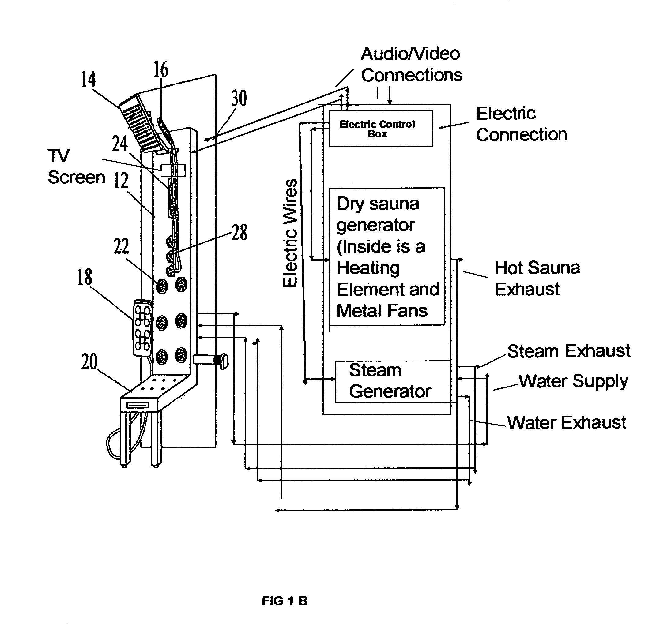 patent us8646121 - steam and sauna shower panel