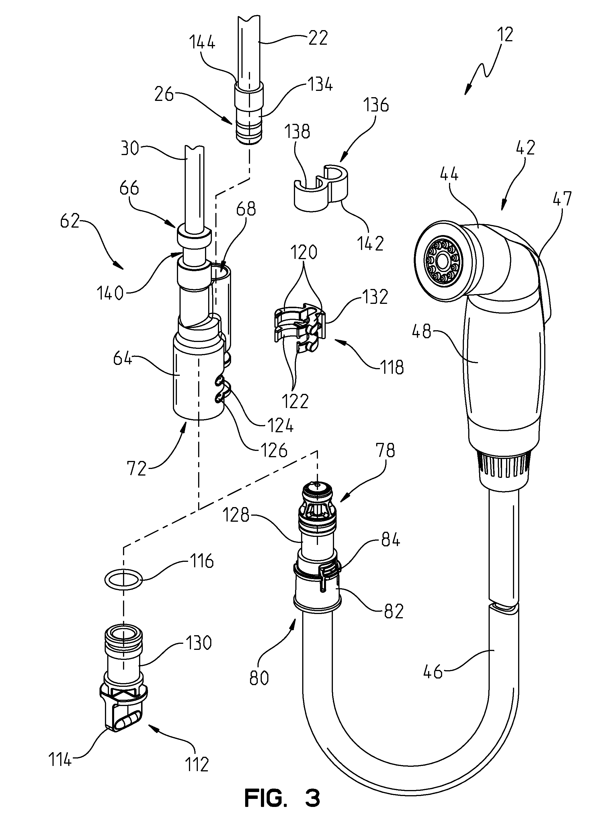 Patent Us8646476 Integrated Kitchen Faucet Side Spray