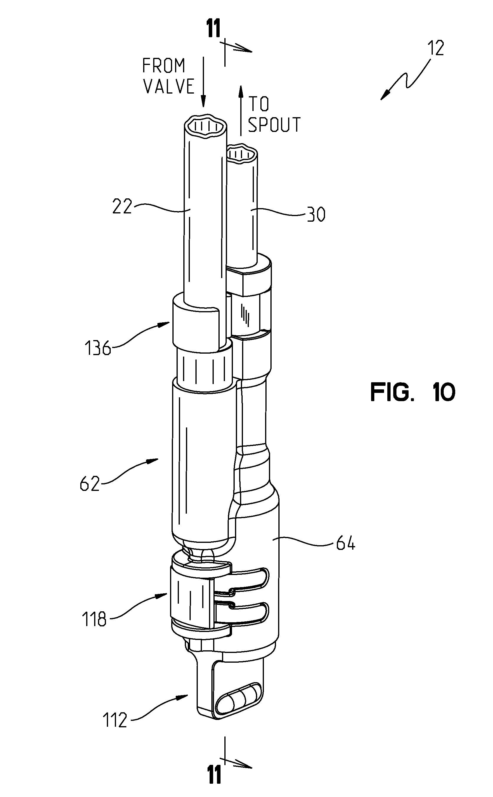 patent us8646476 integrated kitchen faucet side spray and patent drawing