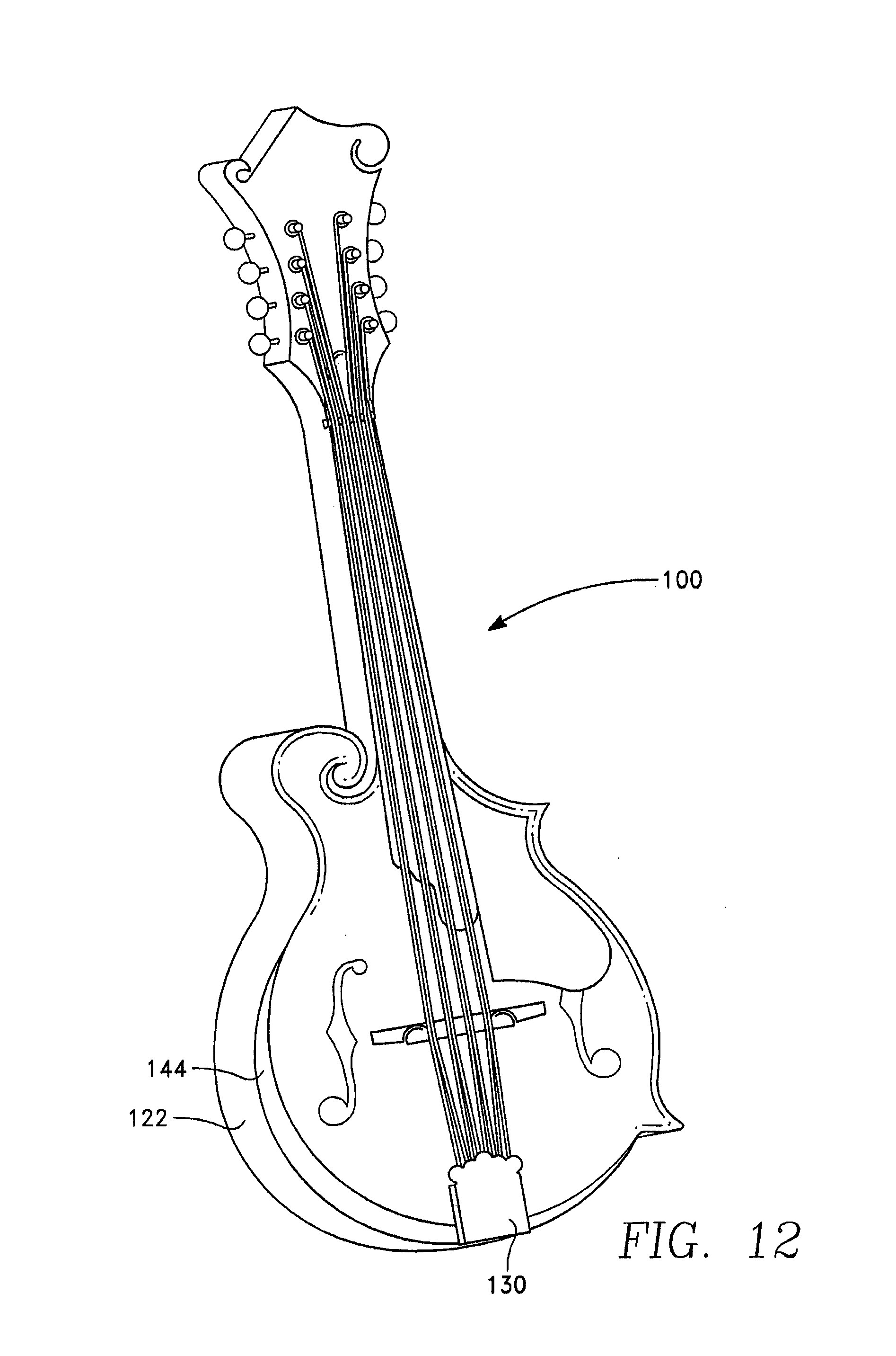Patent Drawing  F Style Mandolin Drawing