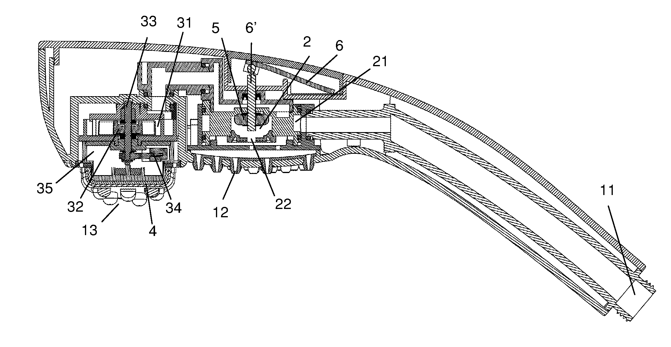 patent us8652078 - shower head with water-powered vibrating