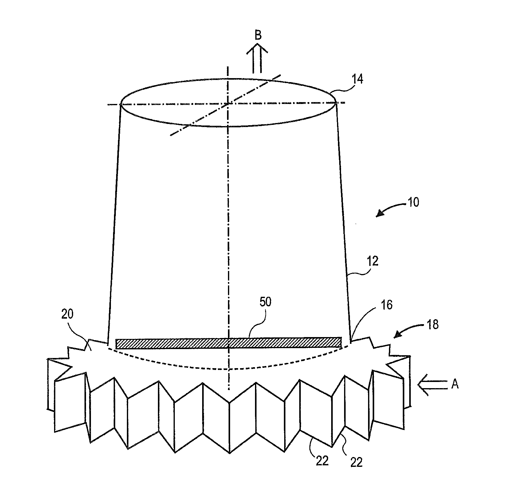 Patent US Natural draft air cooled steam condenser and