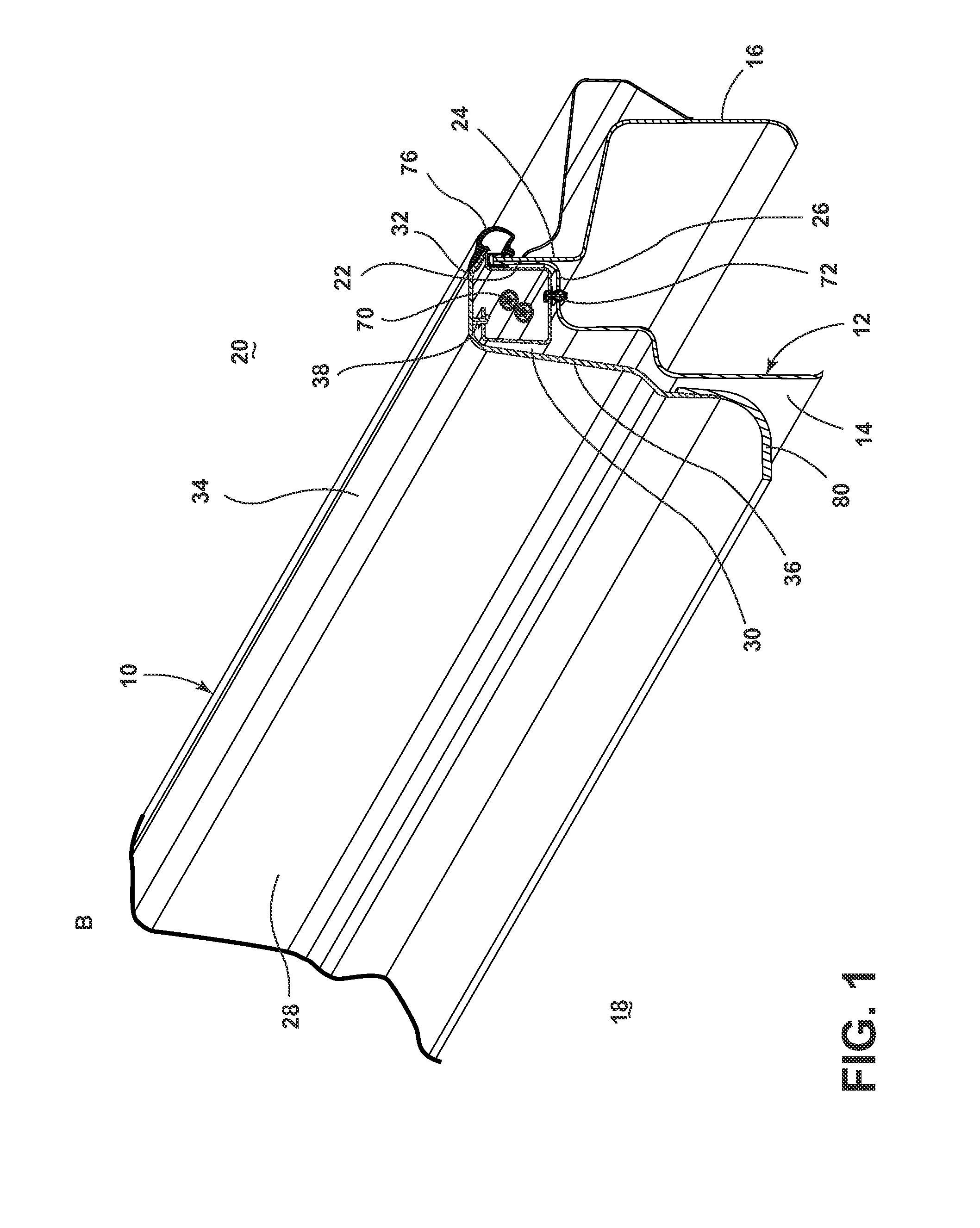 Patent Us8668253 Integrated Door Scuff Plate And Wire Shield Hinged Clamps Wiring Harness Drawing