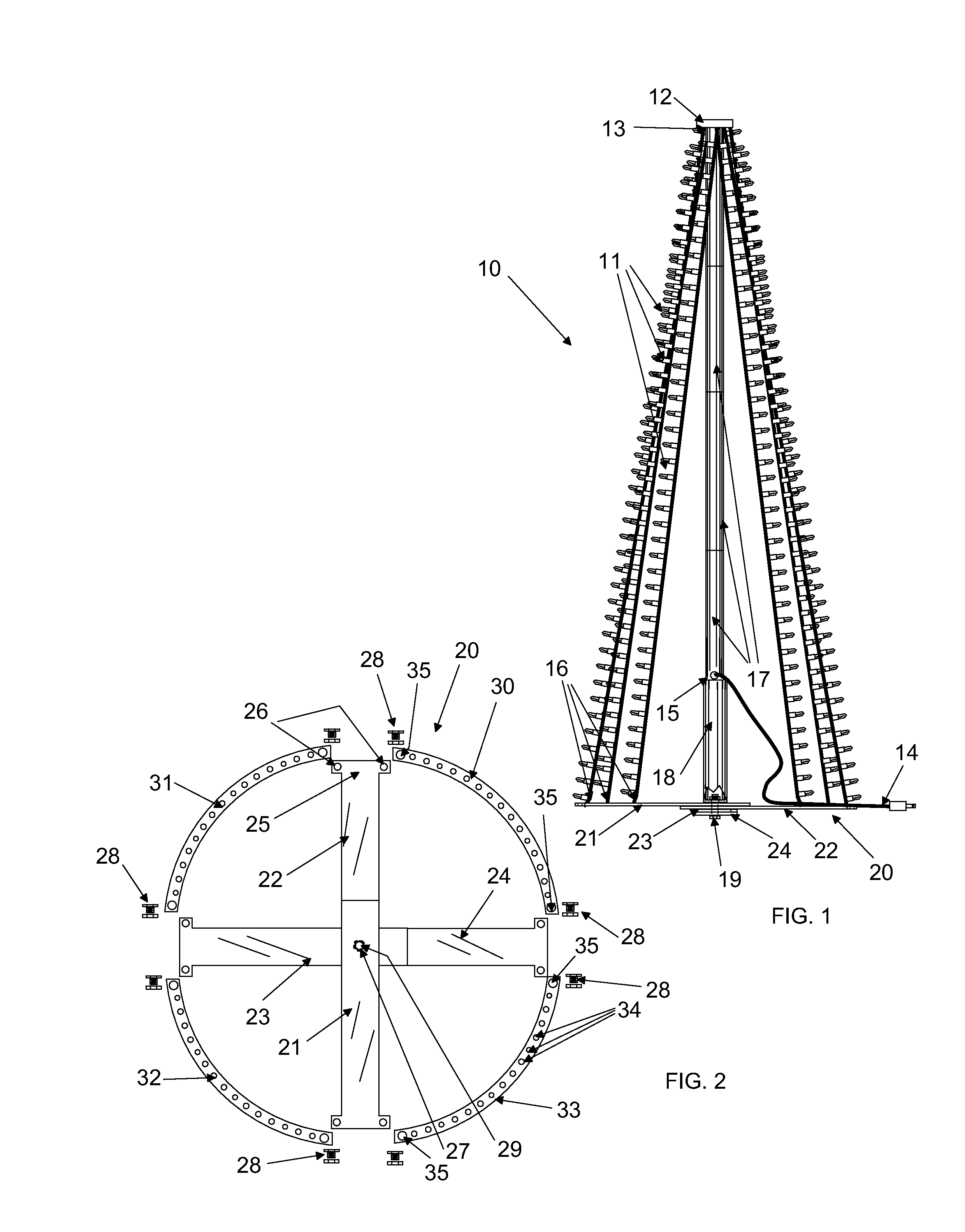 Patent US8678615 - Light strand Christmas tree for flagpole ...
