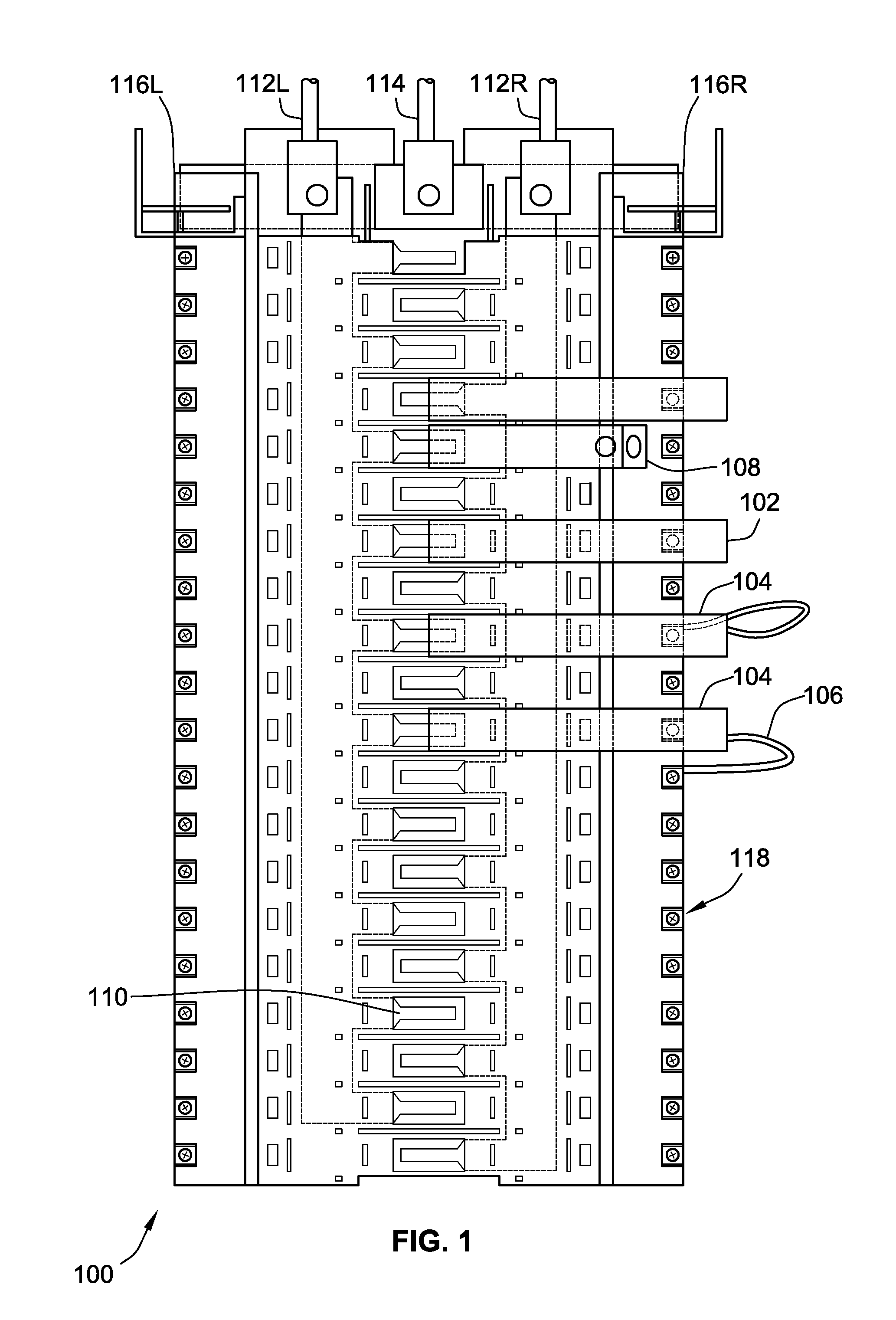 patent us8693169 - panelboard plug-on neutral bus and method of making same