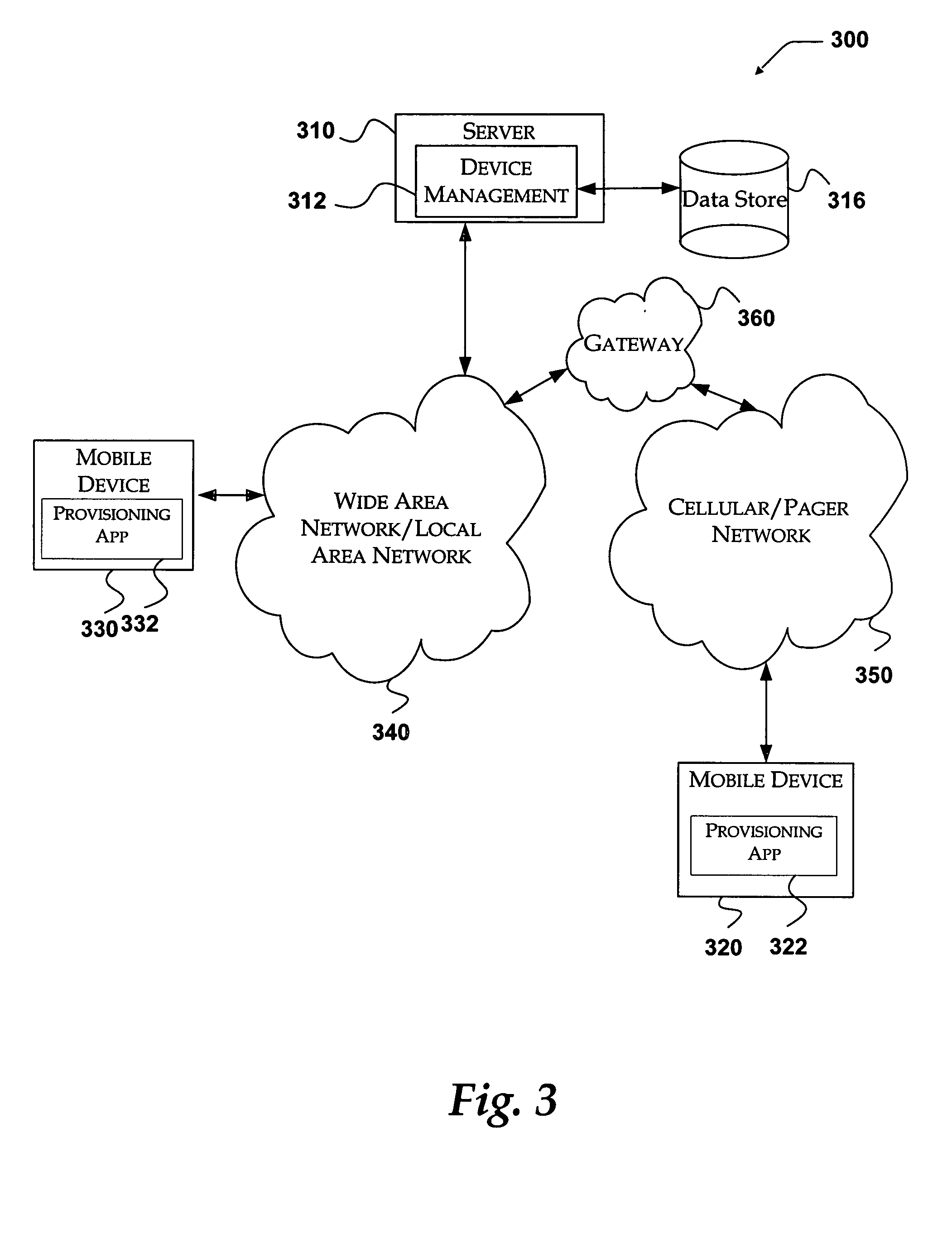 US08694620 20140408 D00003 patent us8694620 system and method for an oma dm extension to on mobile device management policy template