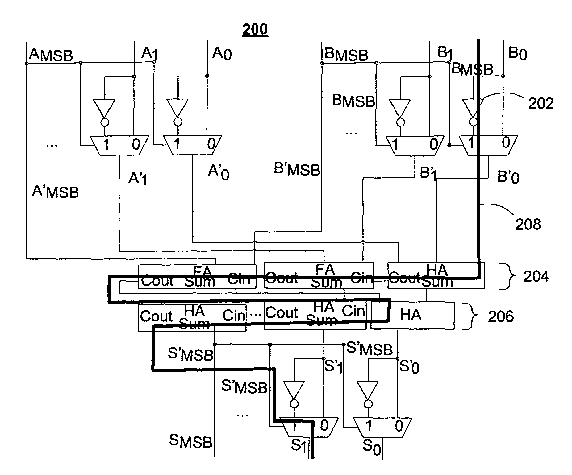 Patent Us8713085 Systems And Methods For A Signed Magnitude Adder Bit Full Block Diagram On Binary Drawing