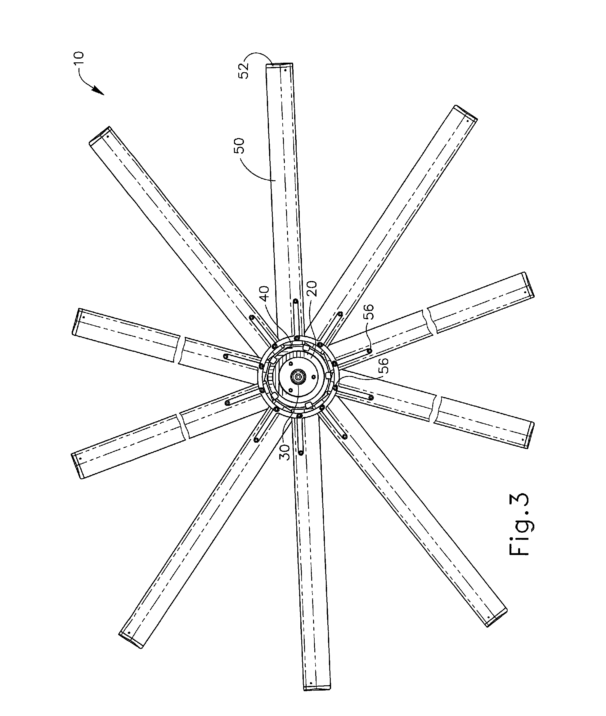 Variable Pitch Fan : Patent us ceiling fan with variable blade pitch