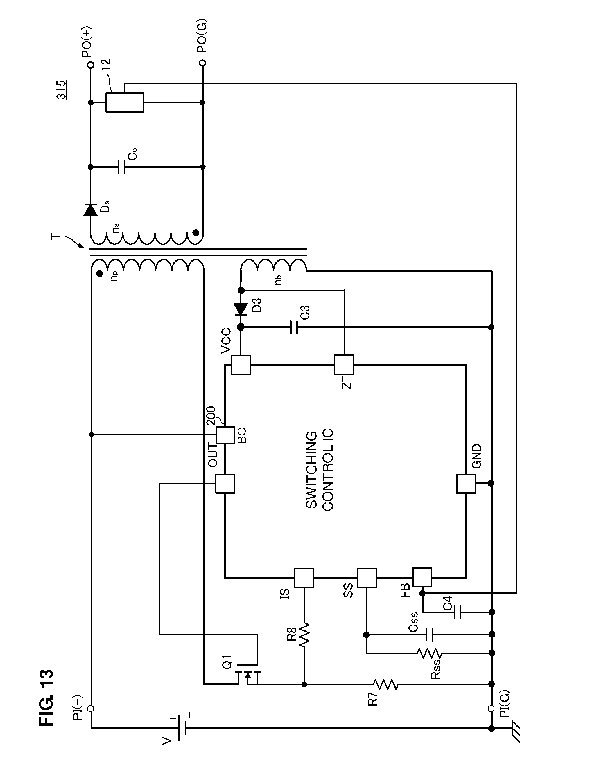Patent Us8724347 Switching Control Circuit And Power The Time Delay With A Fet Controlcircuit Diagram Drawing