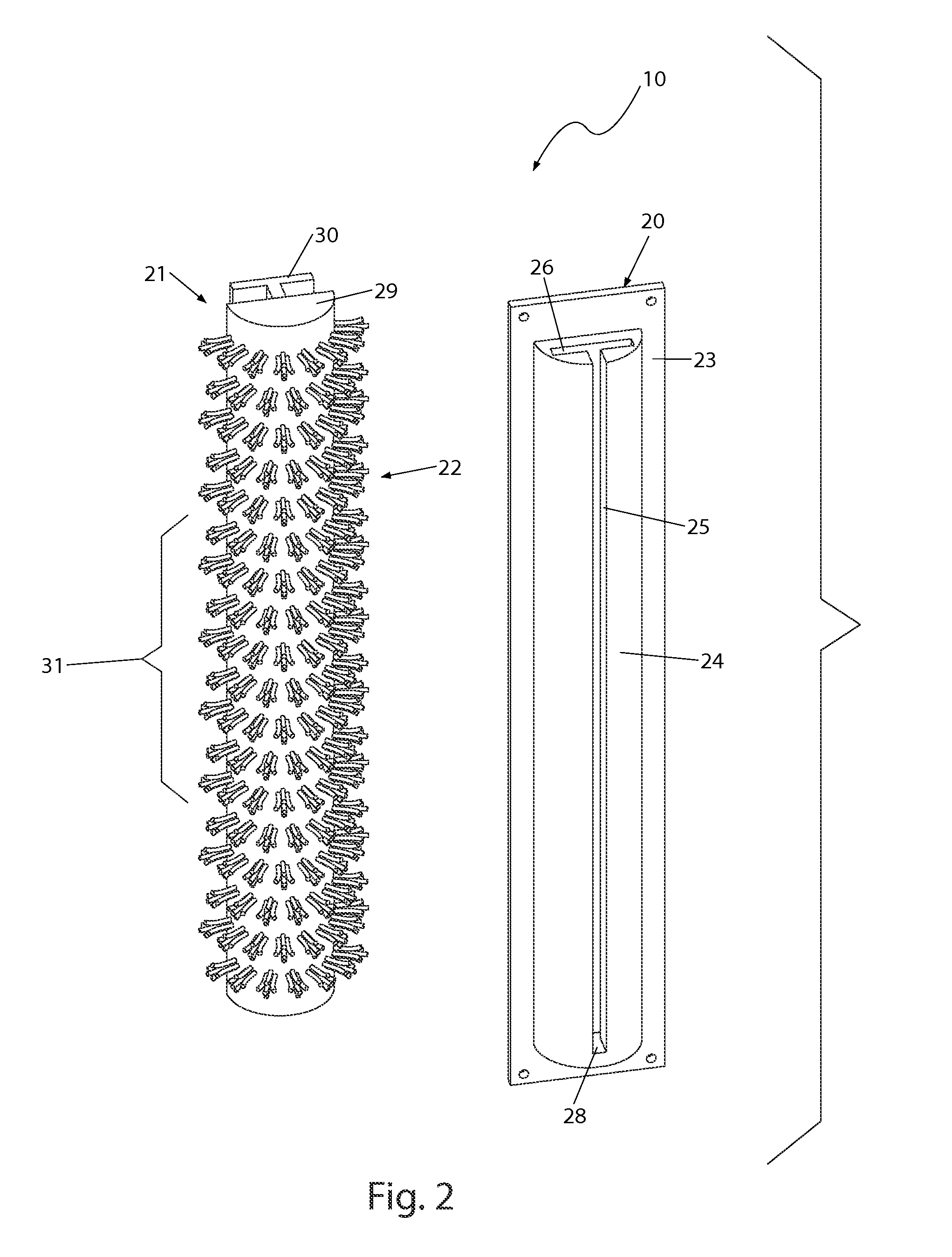 Patent Us8726445 Shower Mounted Back Scrubber Google