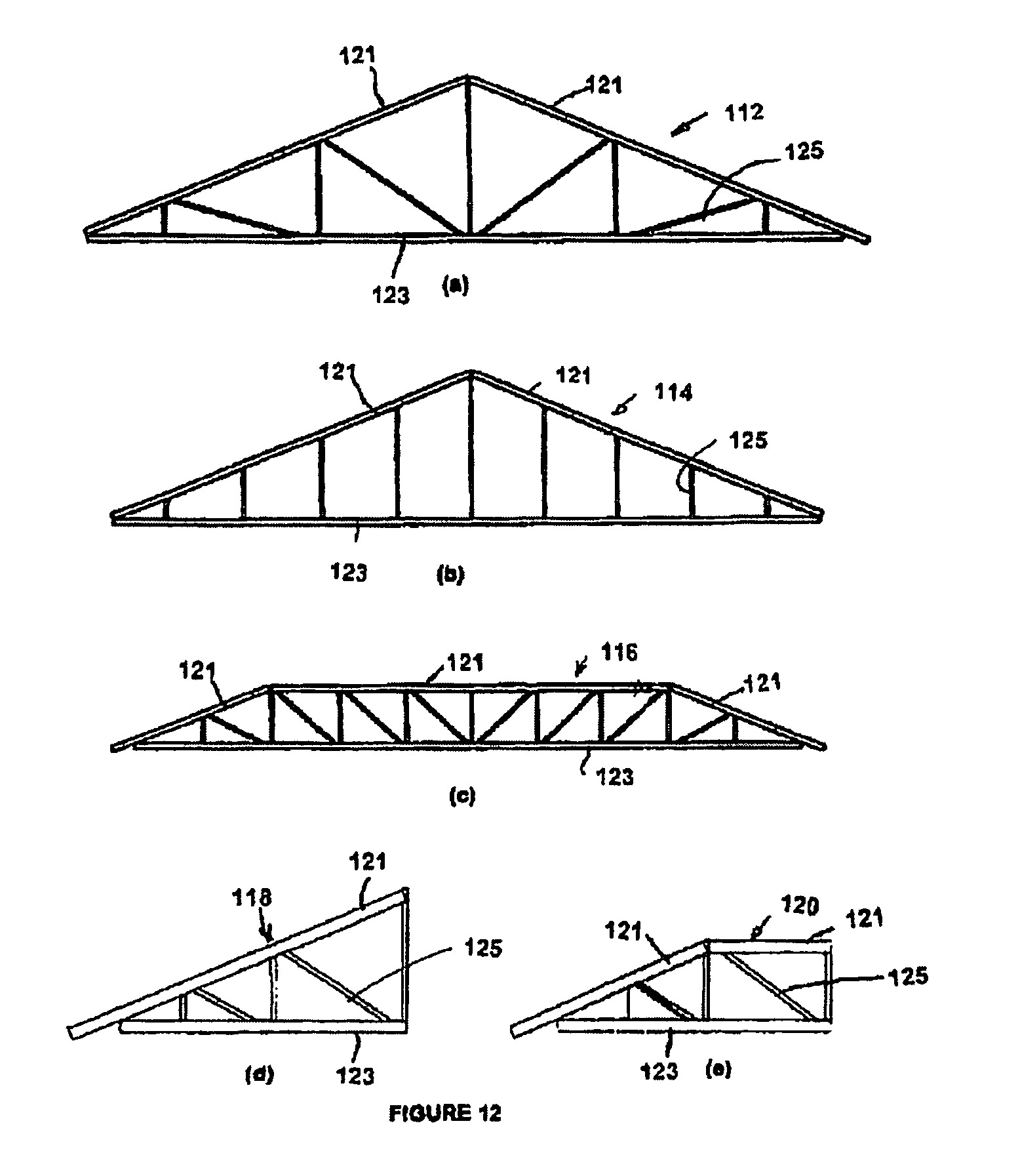 Patent us8726606 light steel trusses and truss systems google patent drawing hexwebz Choice Image
