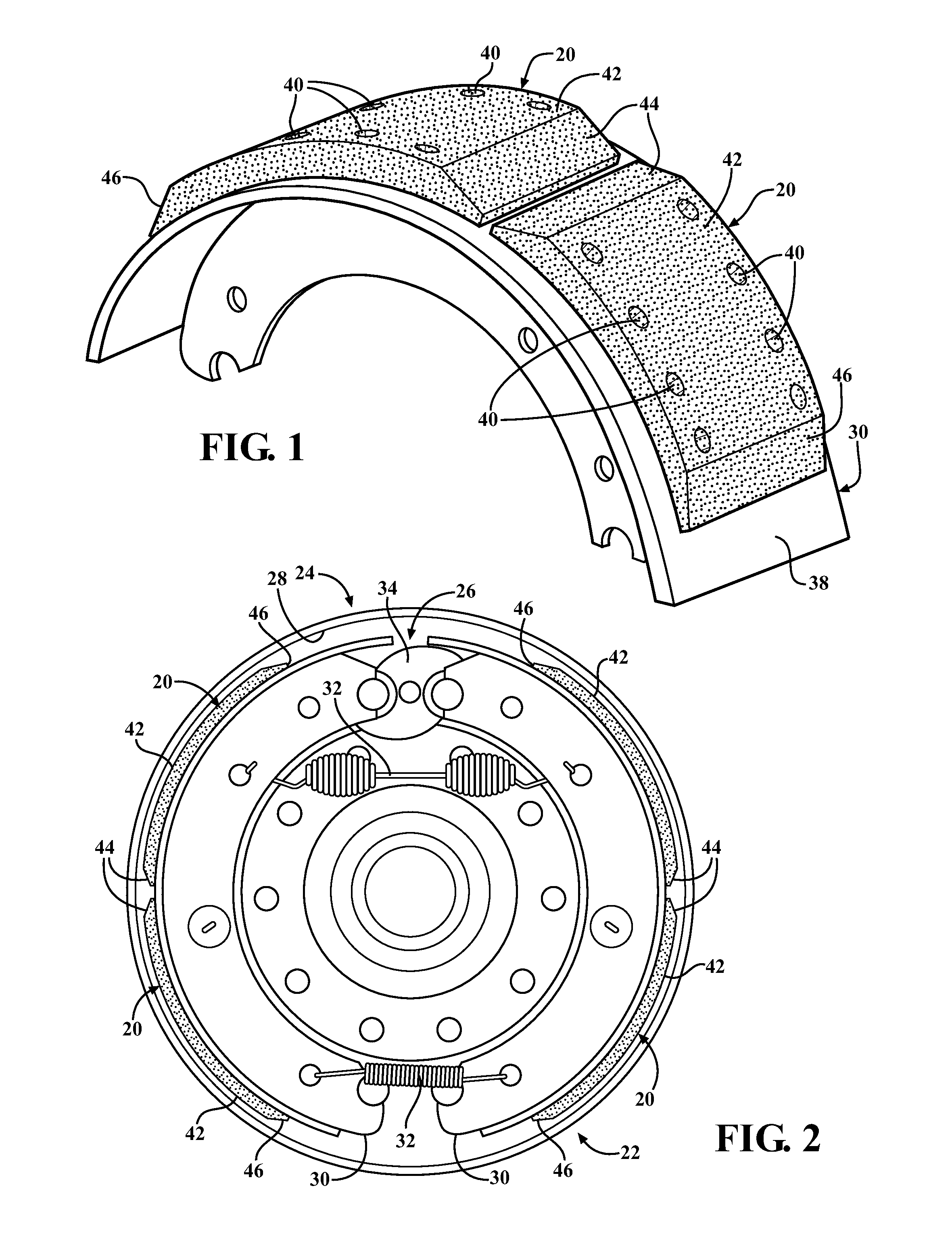 Brake Lining Draw : Patent us brake lining for a drum assembly