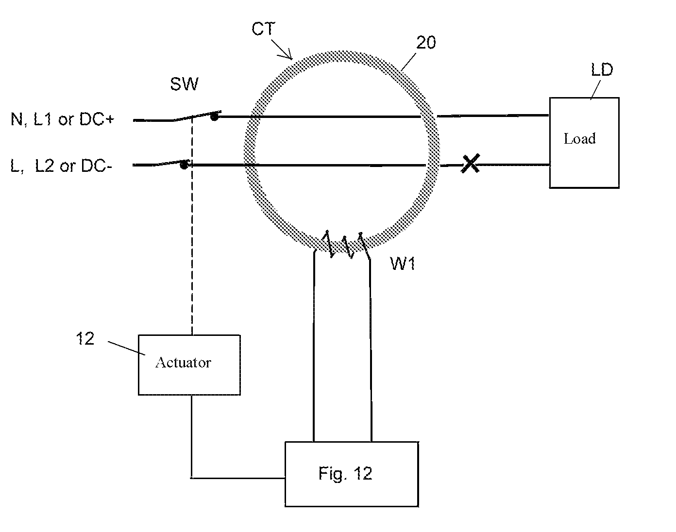 Patente Us8743513 Arc Fault Detector For Ac Or Dc Installations Pass Seymour Arcfault Circuit Interrupter Afci Patent Drawing