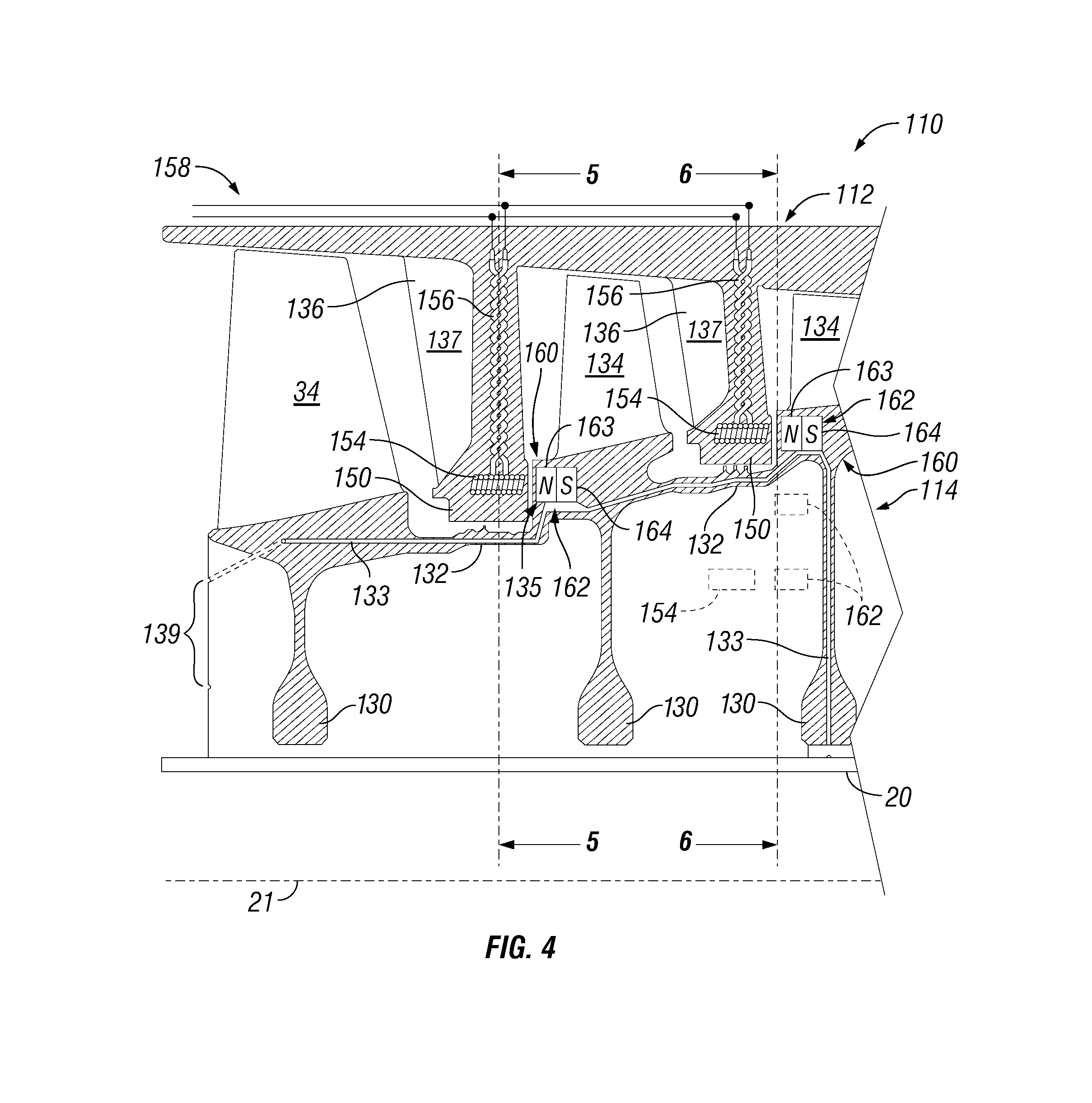Patent US Gas turbine engine with integrated electric