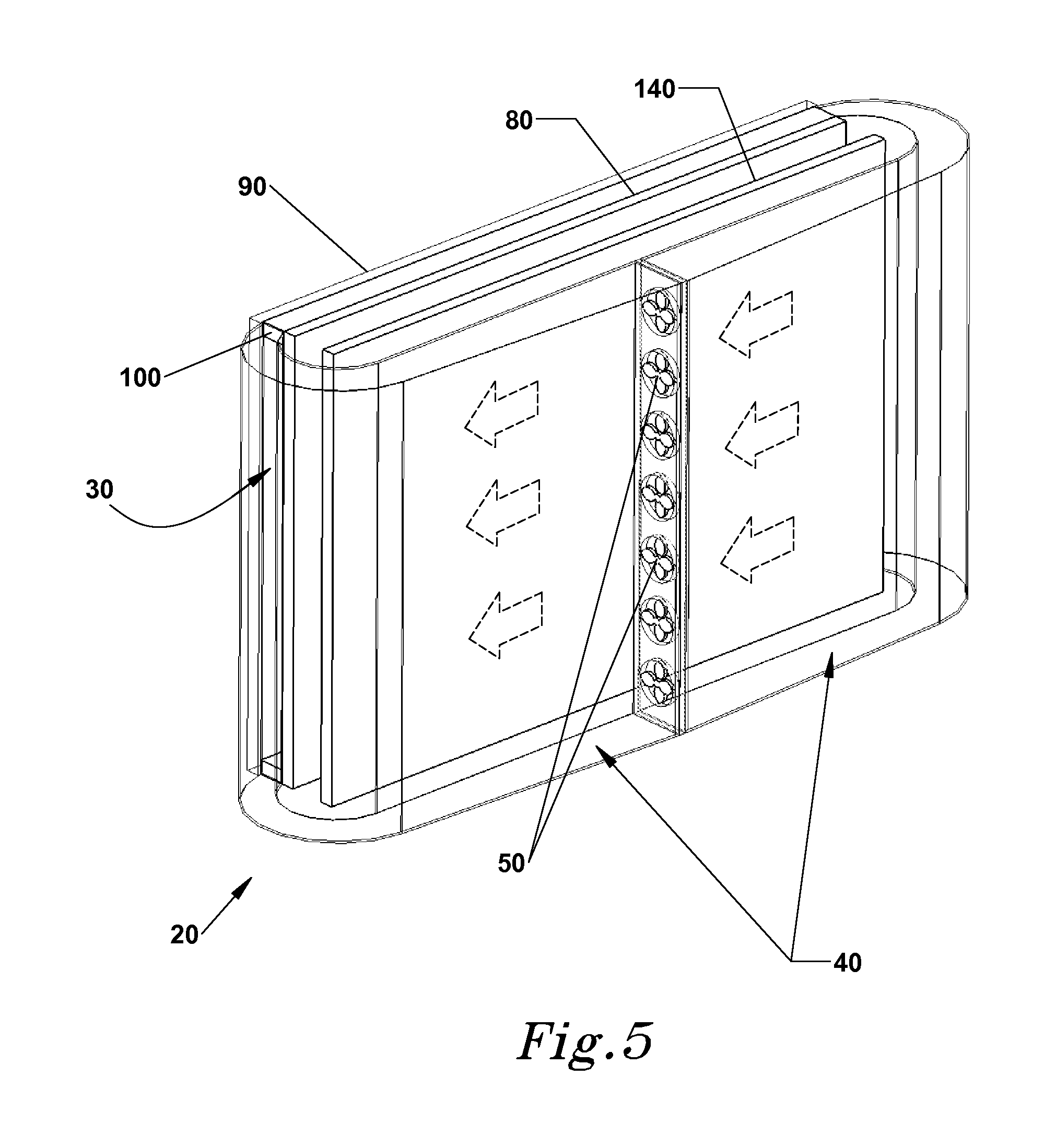 Patent US Isolated gas cooling system for an electronic