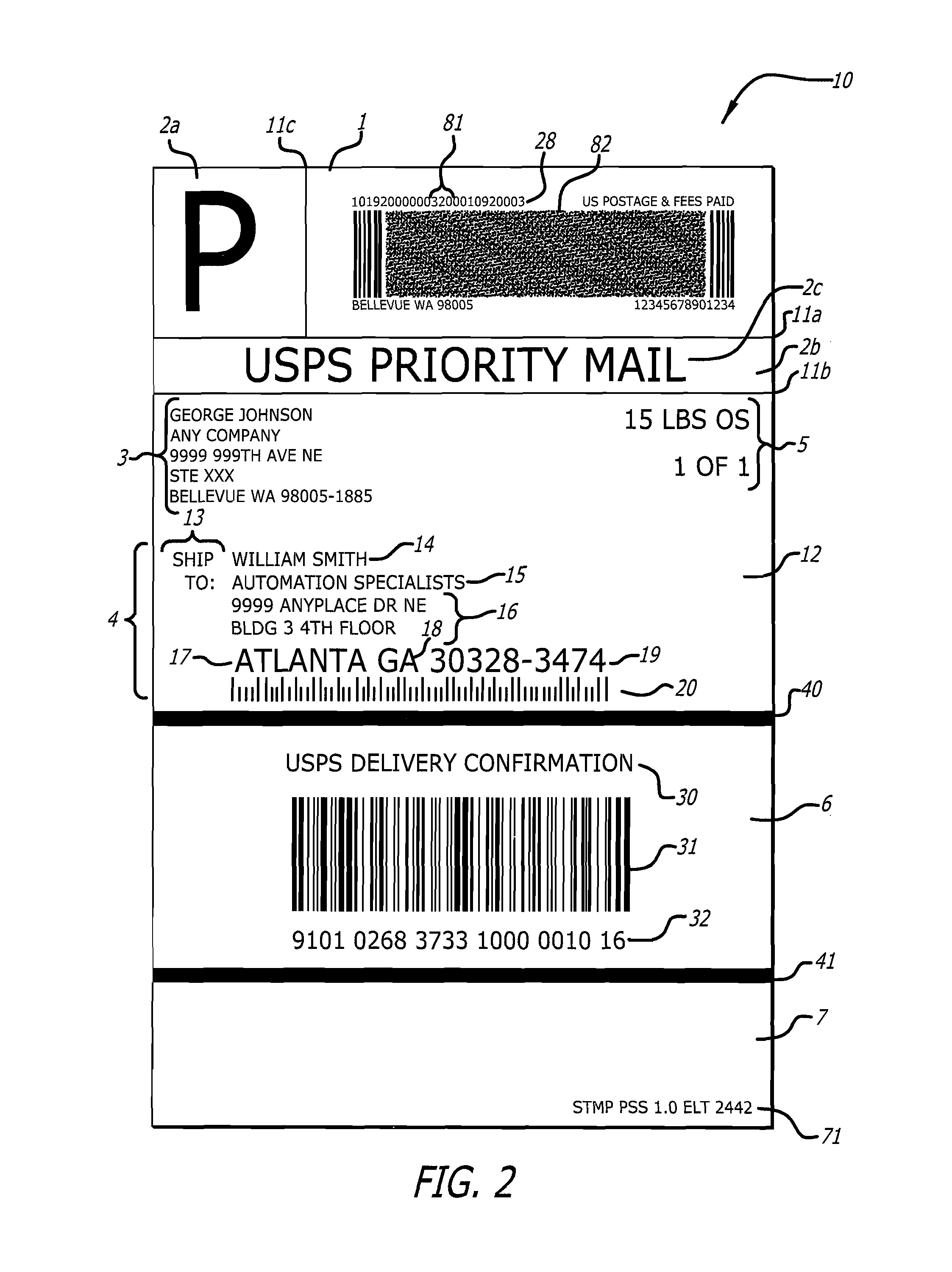 usps mailing label template