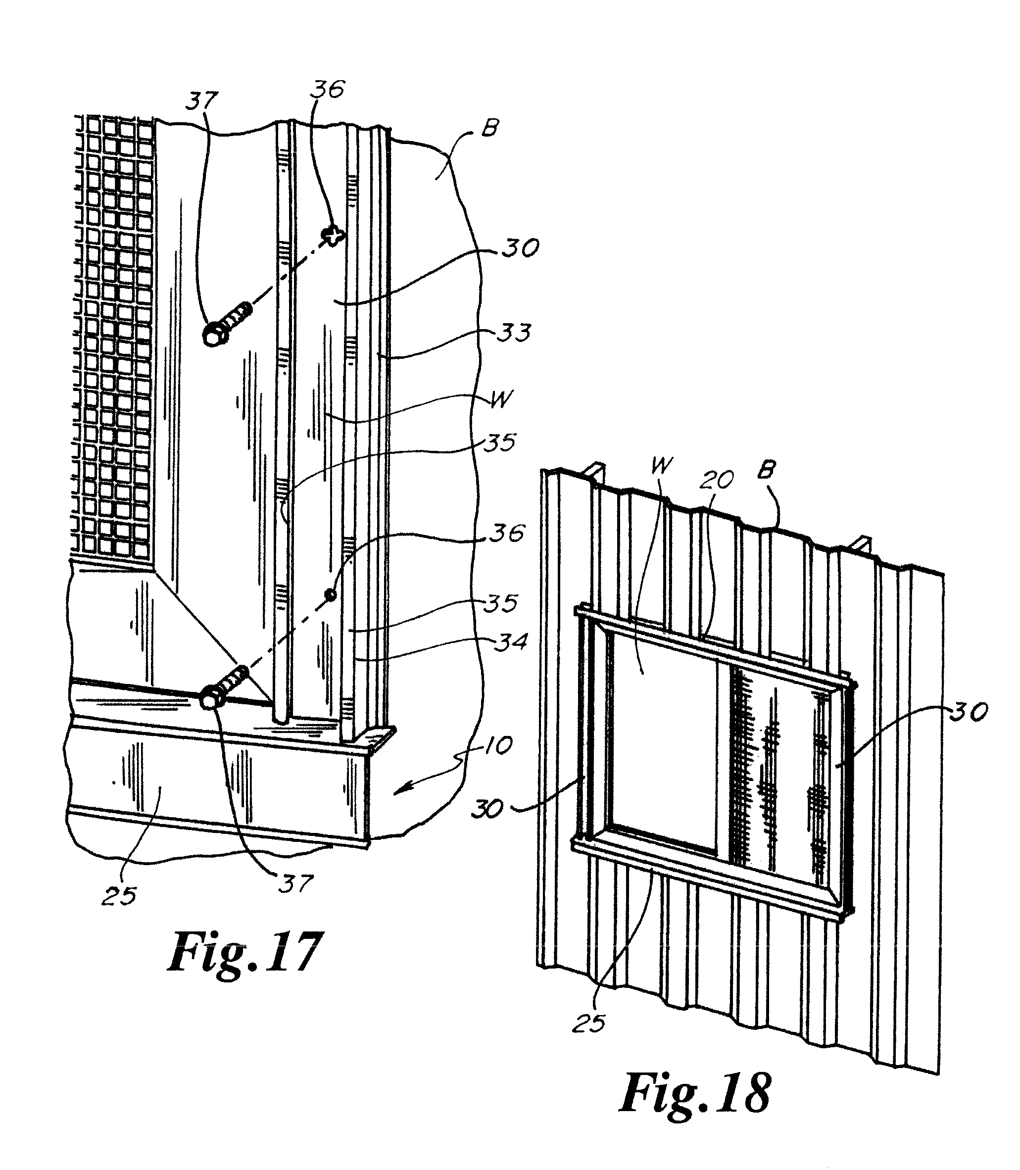 Patent us8776460 plastic window frame trim for corrugated patent drawing sciox Images