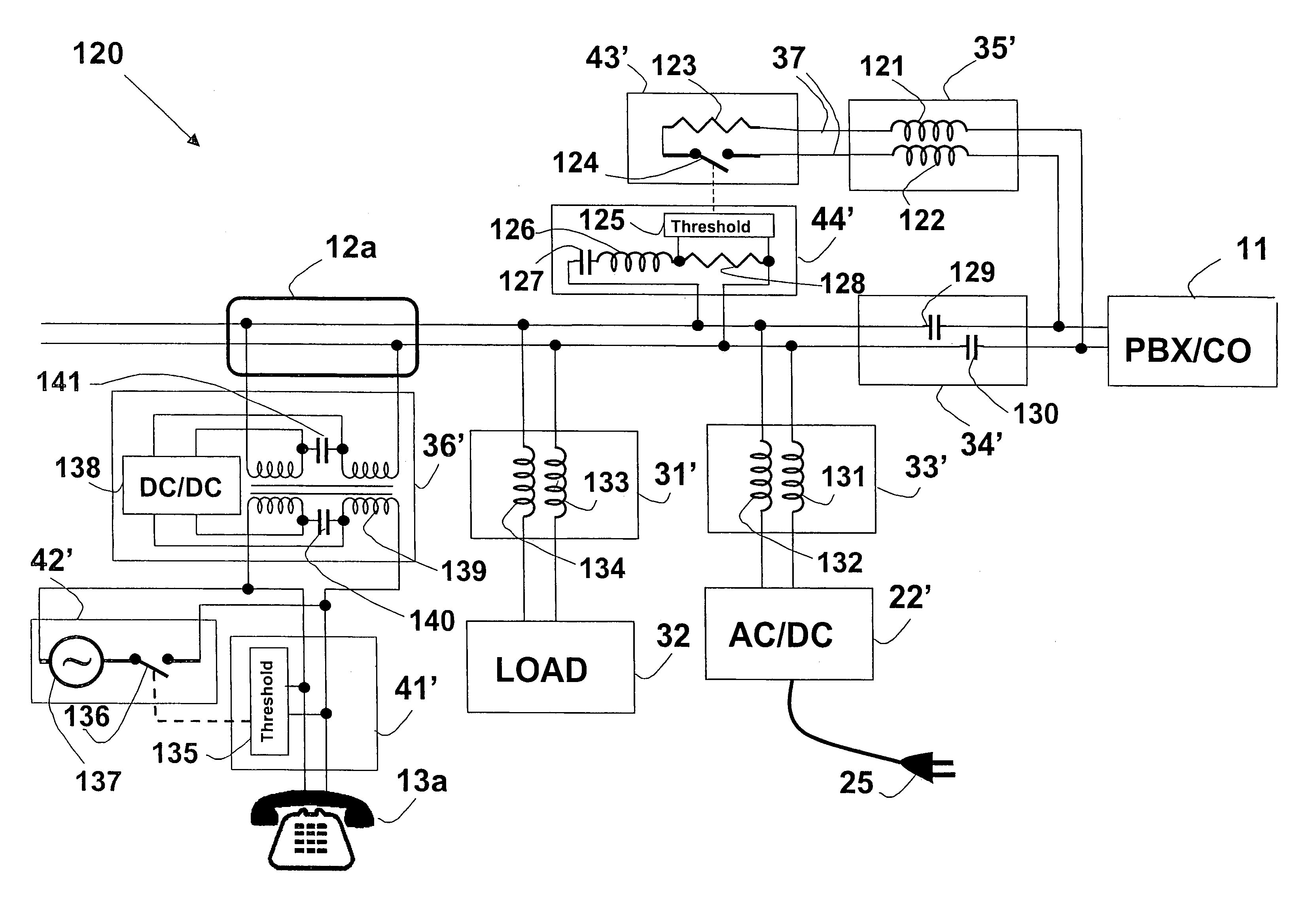 Patent Us8787562 Method And System For Providing Dc Power On Local 60 Hz Band Reject Filter Public Circuit Online Simulator Drawing