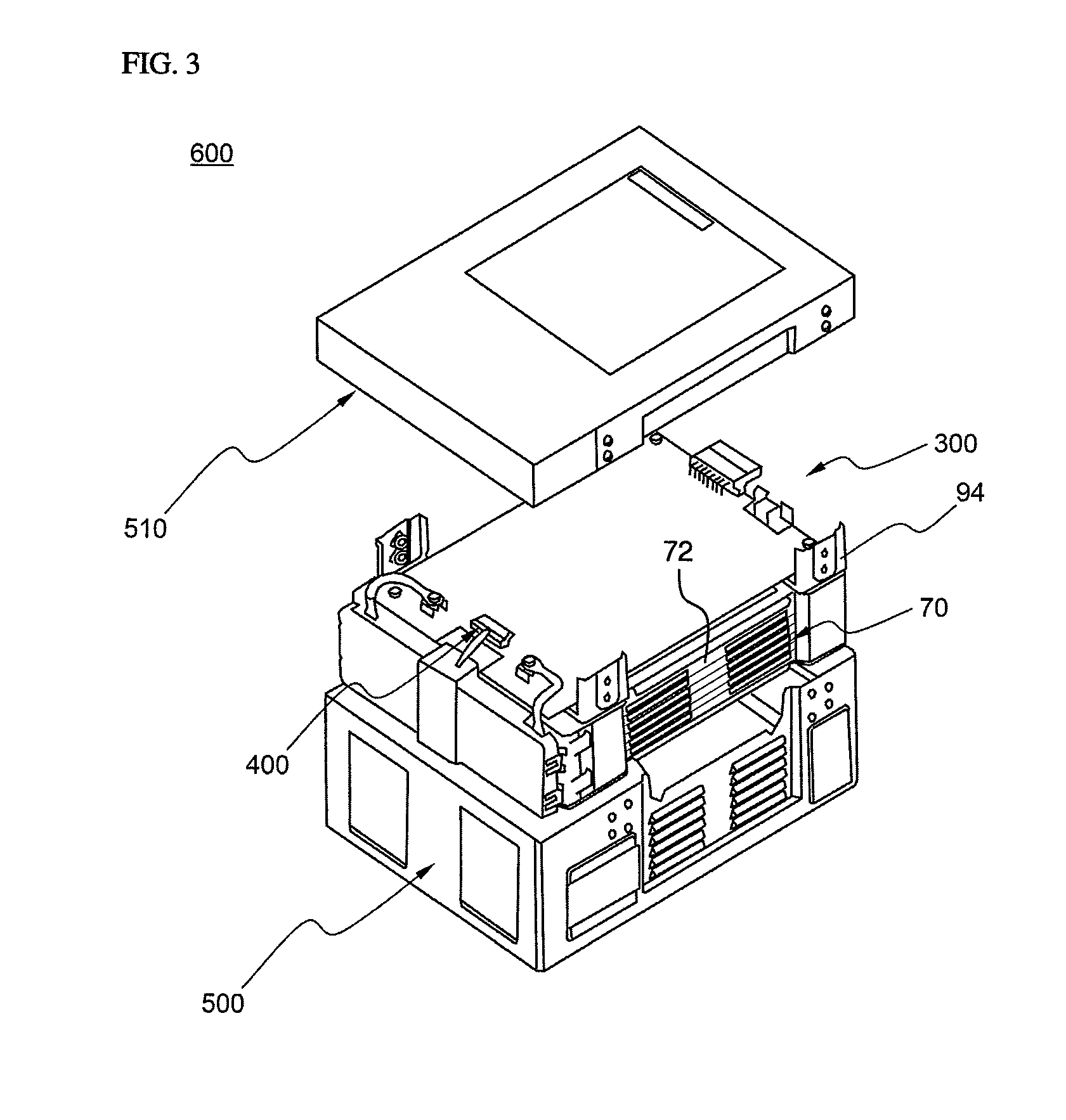 patent us8802259 - battery pack of compact structure
