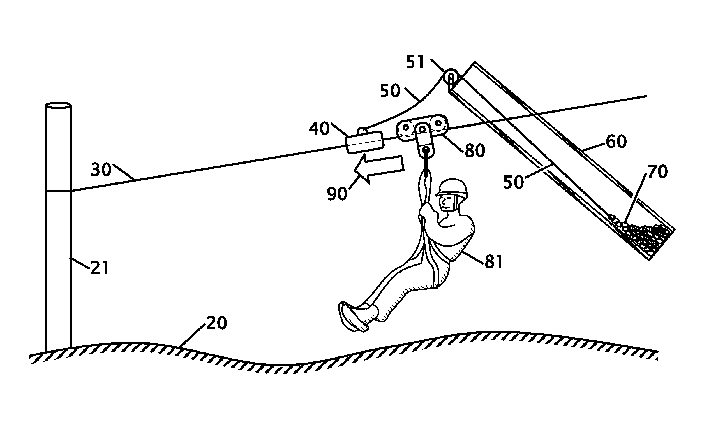 Drawing Lines With Zip : Patent us braking system for a zip line google