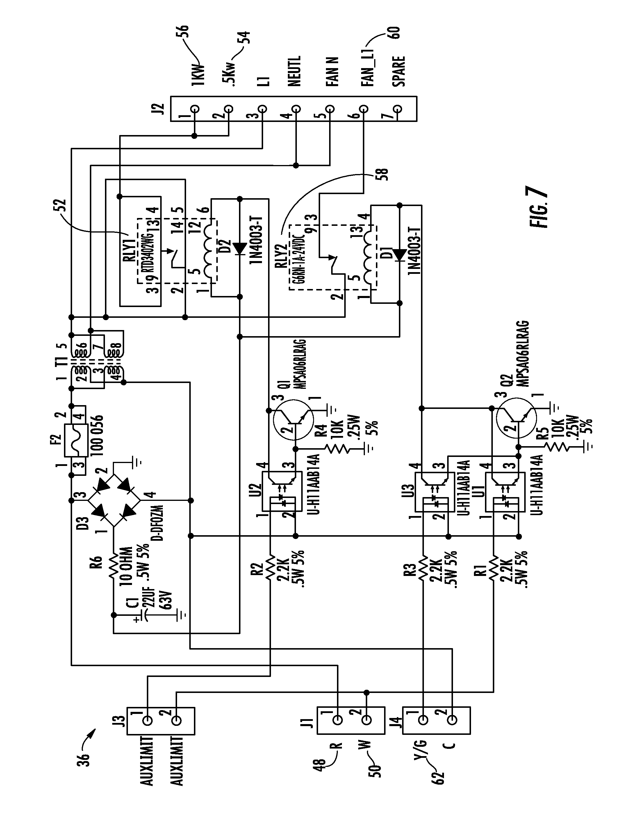 Honeywell Chronotherm Iv Plus Wiring Diagram 44 Th6000 Thermostat Wire Us08837922 20140916 D00007 Patent Us8837922 In Line Duct Supplemental Heating And Cooling