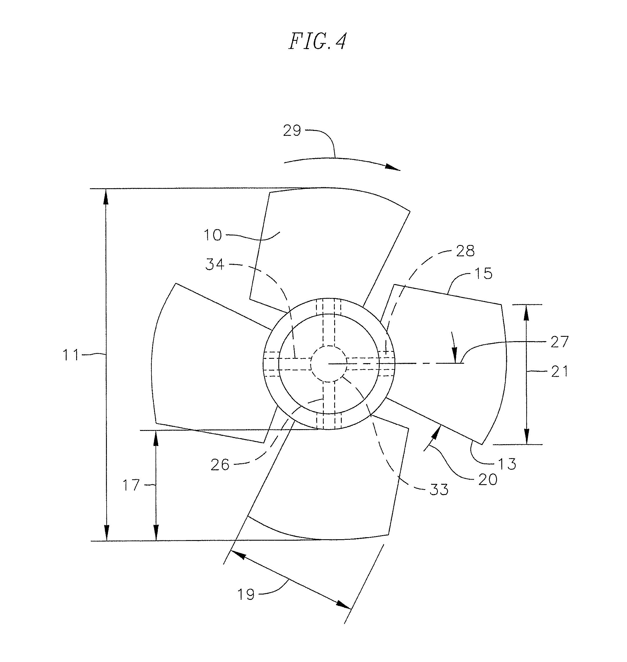 Fan Blade Drawing : Patent us super low noise fan blades axial flow