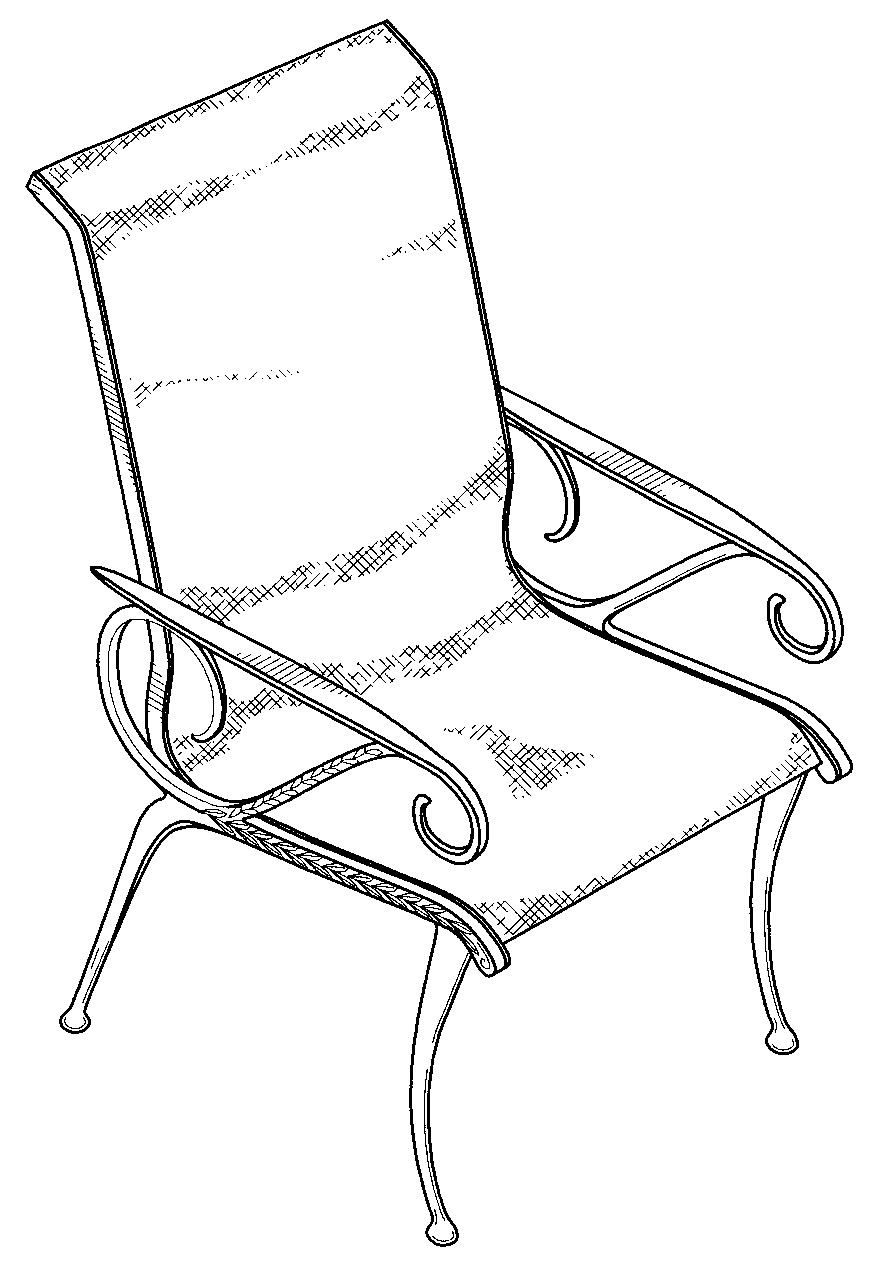 家具 简笔画 手绘 线稿 椅 椅子 1781_2539 竖版 竖屏