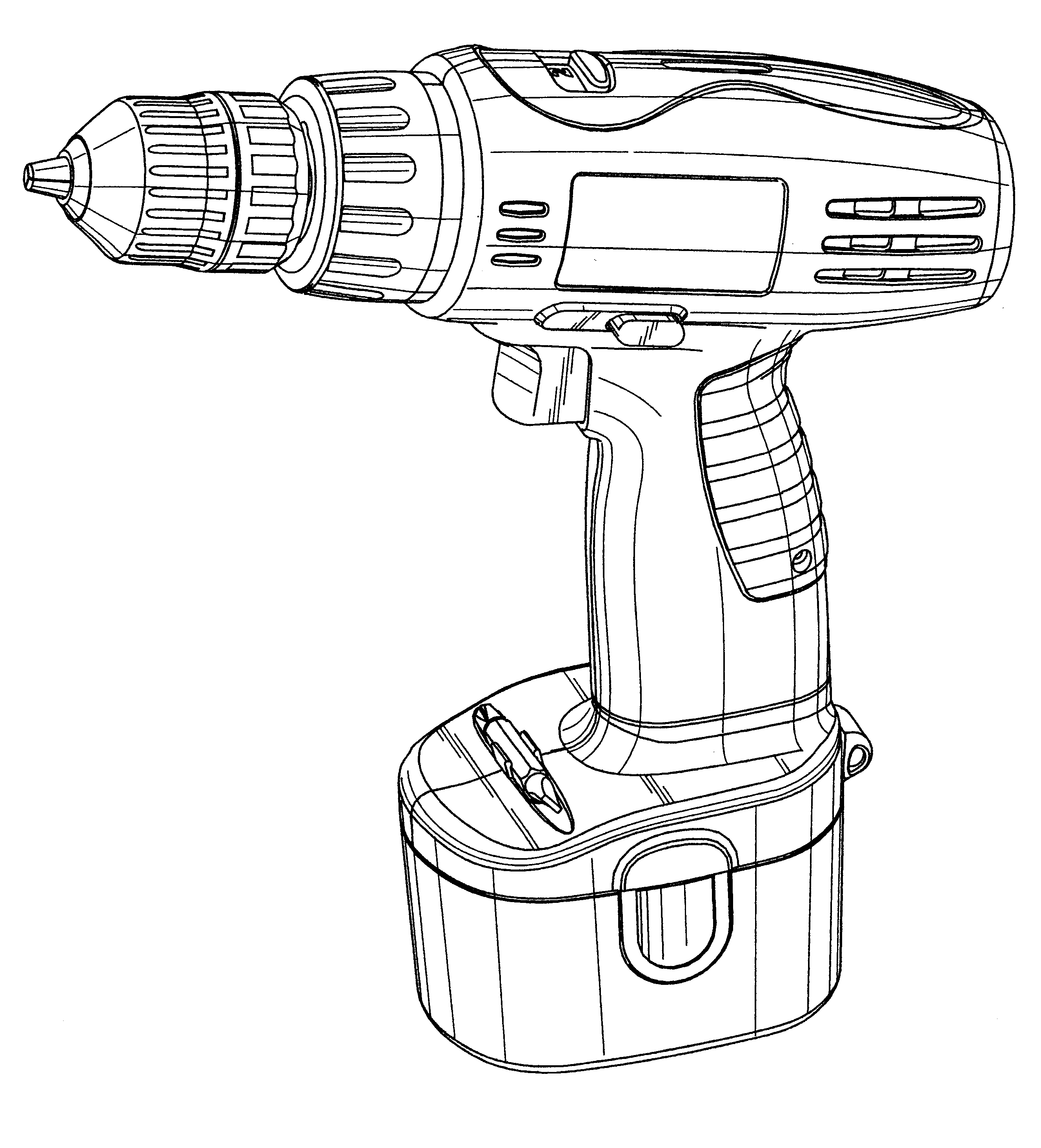 Hand Drill Drawing Free Drawing of Power Drill bw