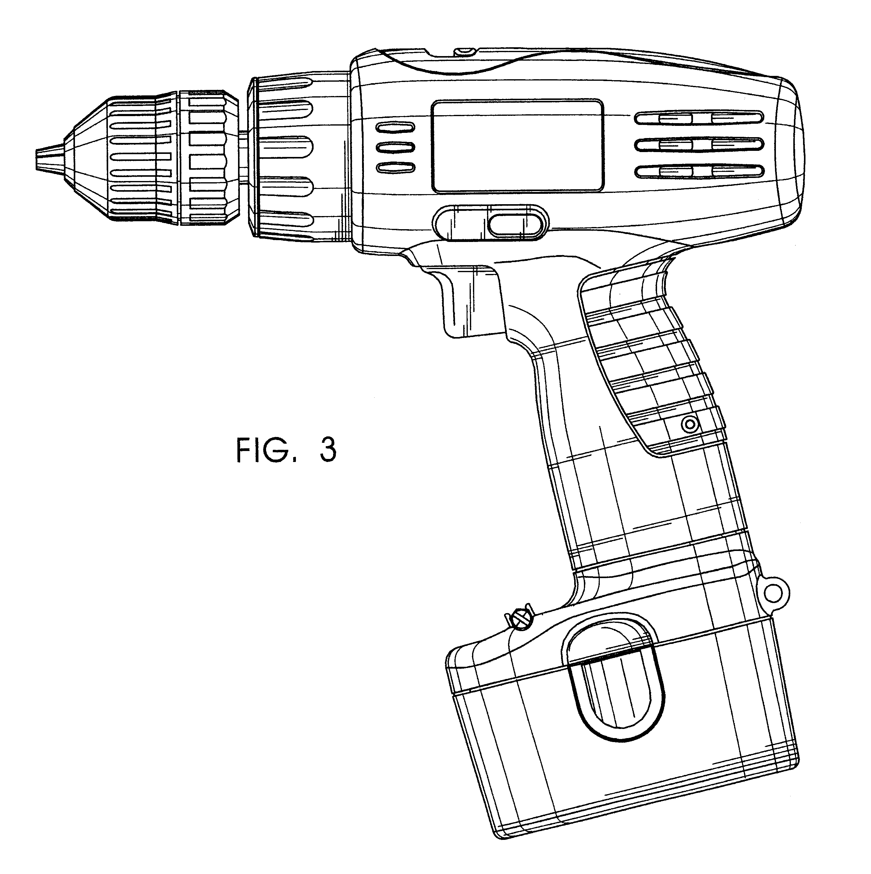 Hand Drill Drawing Vector of Electric Hand Drill