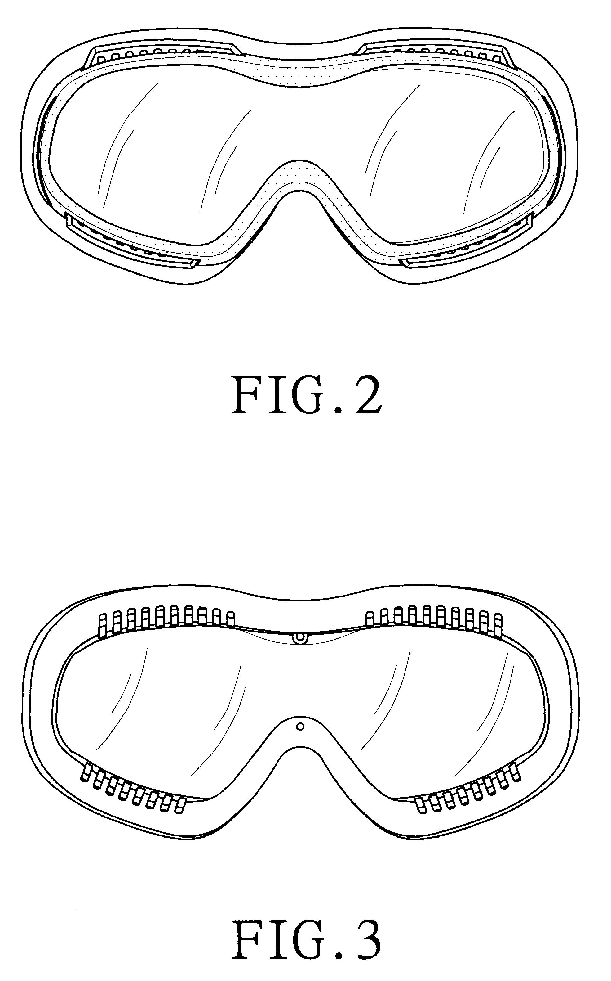 ski goggles orange  ski goggles