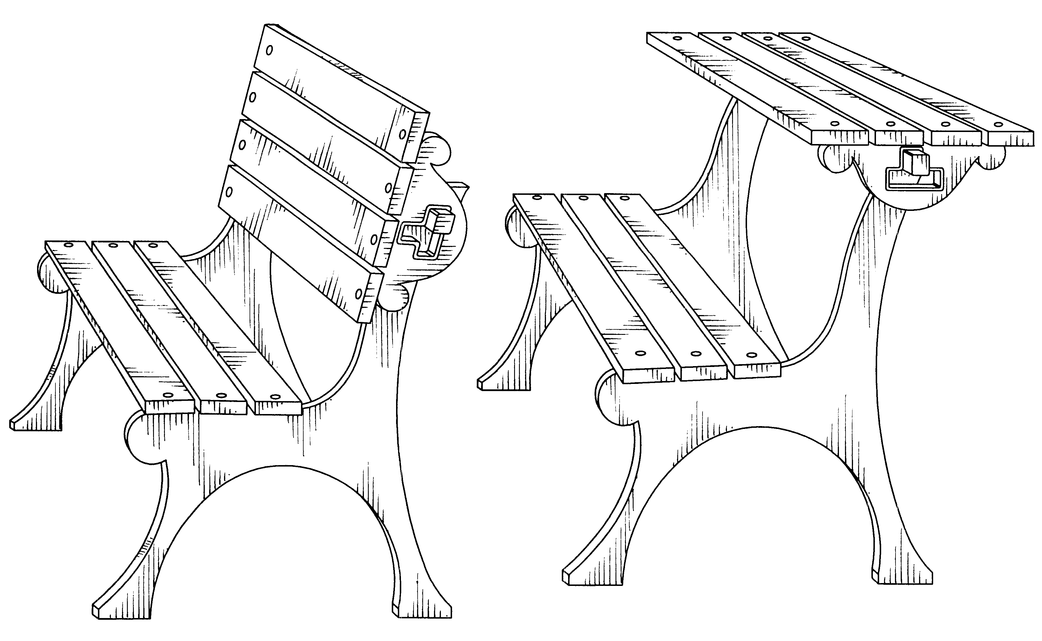 Рисунок на скамейке своими руками 95