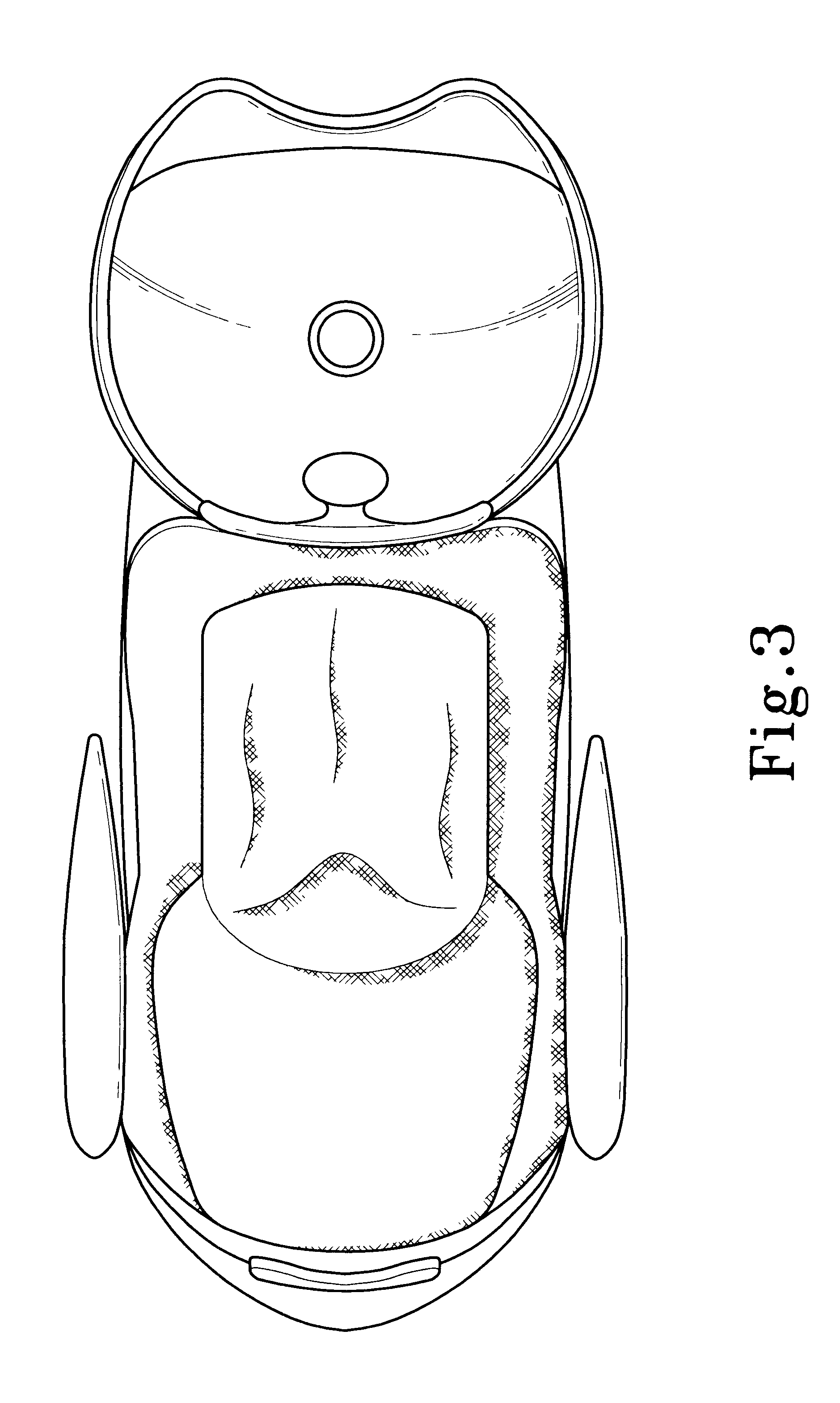 Salon chair dimensions - Patent Drawing
