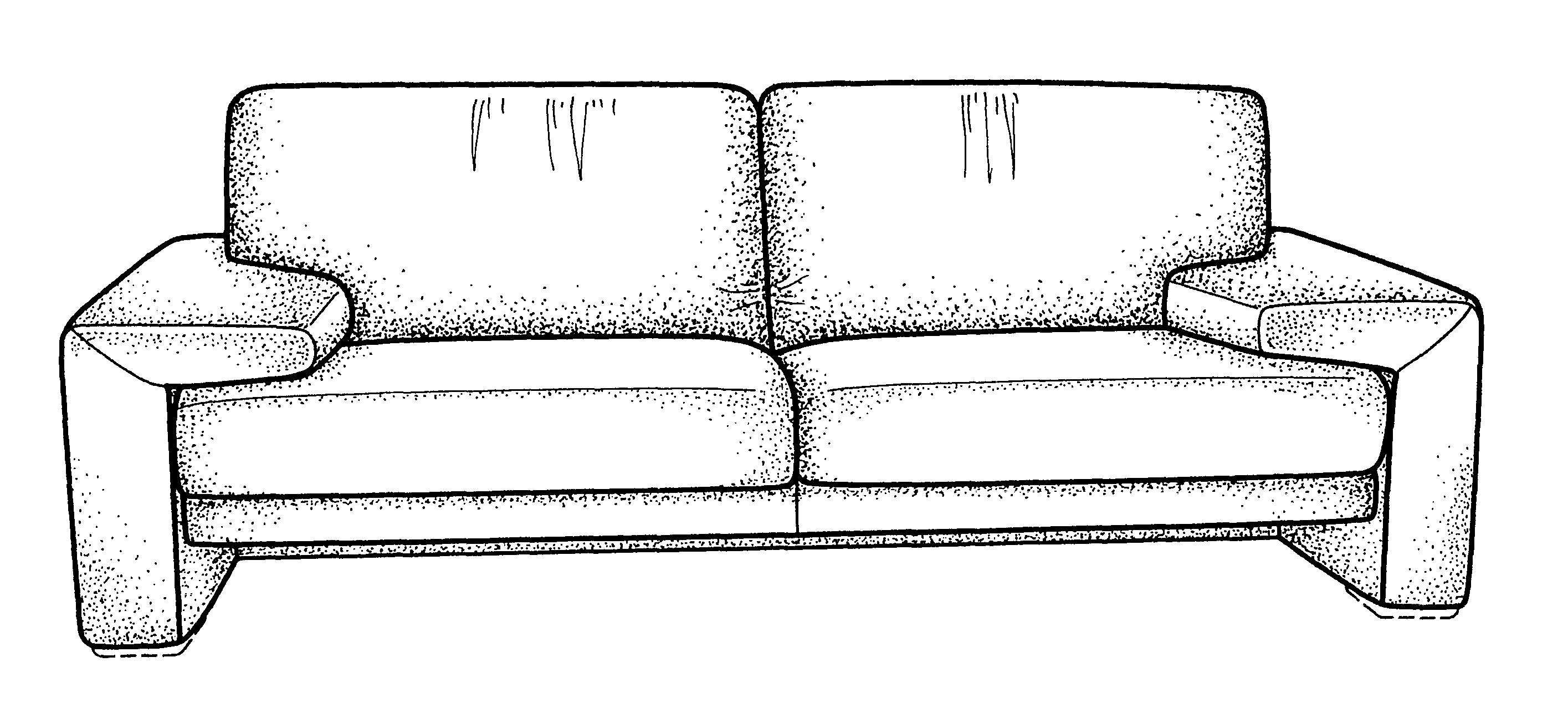 Front Elevation Of Sofa : Patente usd sofa patentes do google