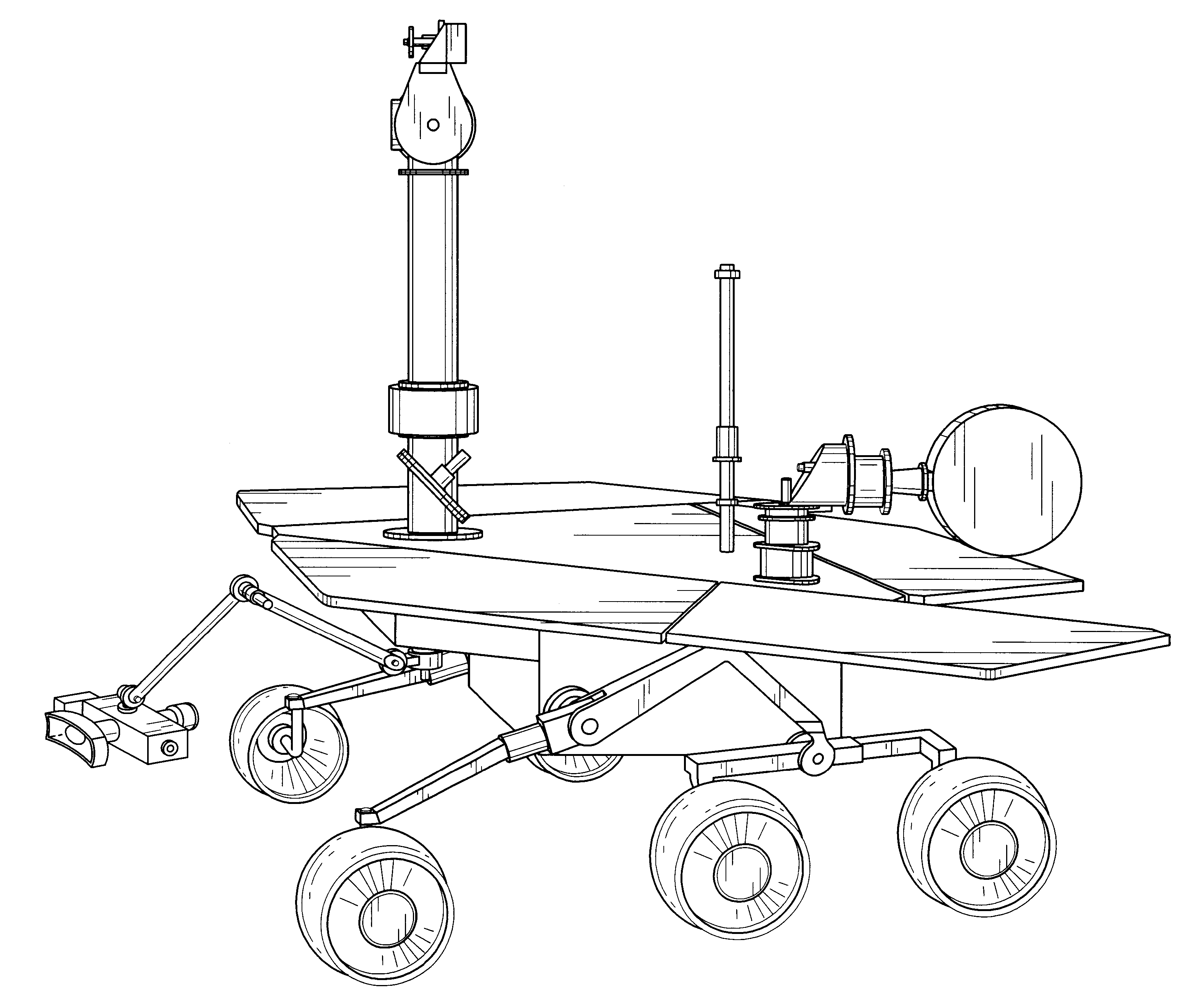 mars curiosity rover technical drawing - photo #19