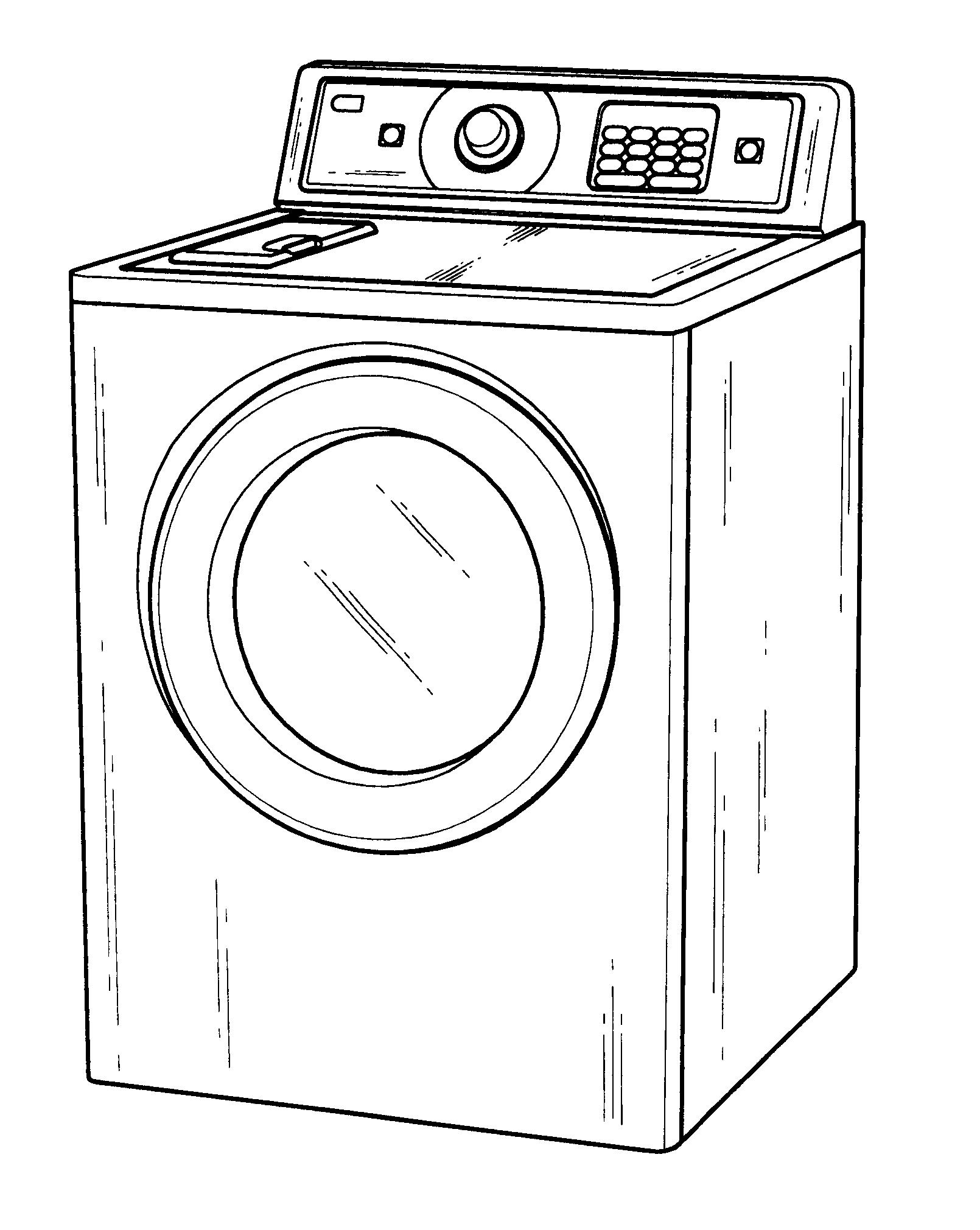 Washing Machine Drawing ~ Patent usd drum washing machine google patents