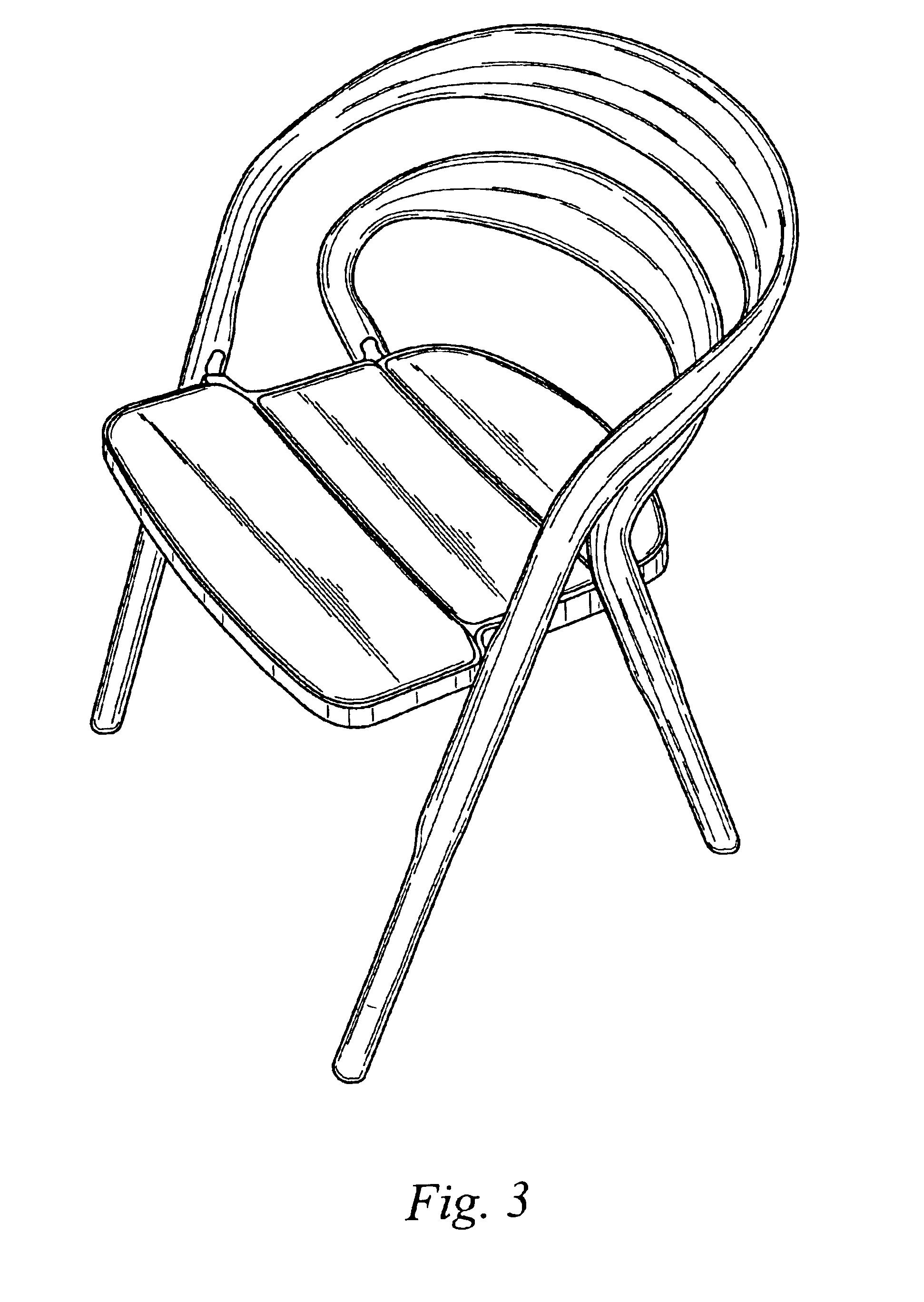 手绘桌椅线稿