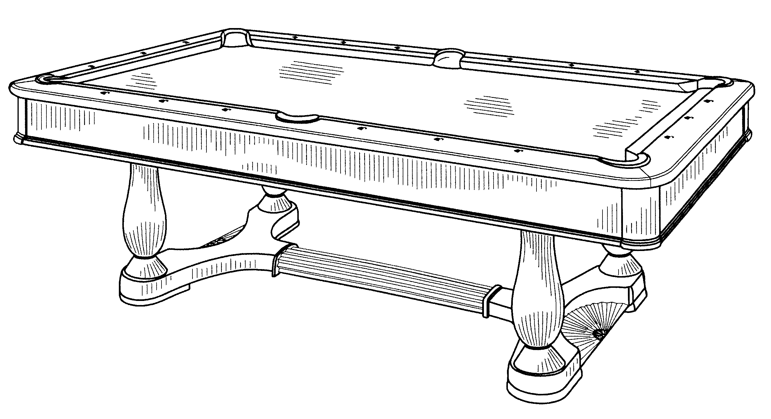 Patent usd507322 pool table google patents for Table design sketch
