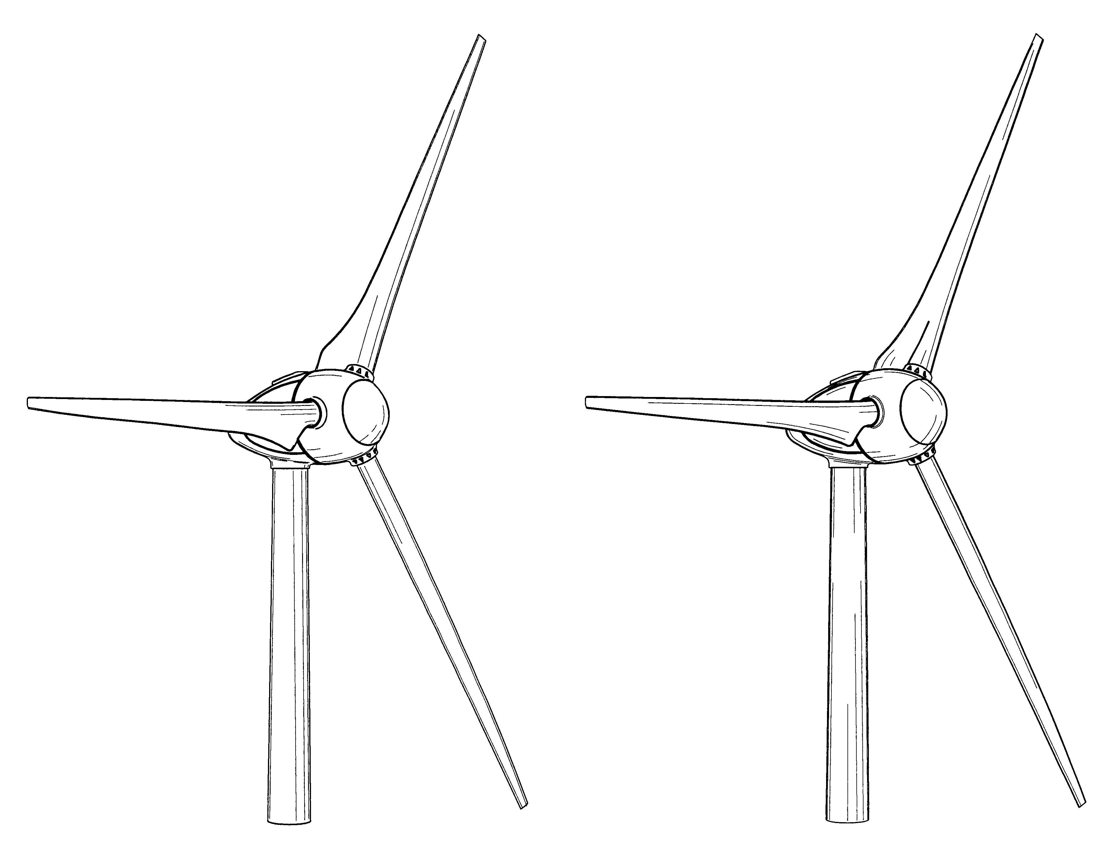 patent usd517986 - wind turbine and rotor blade of a wind turbine