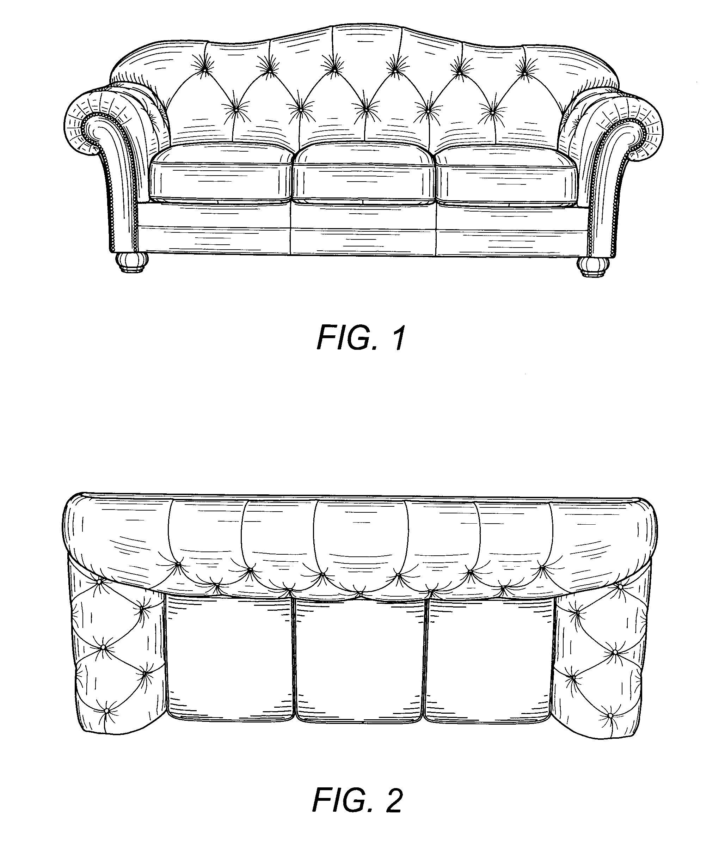 Patent USD520773 Sofa Google Patents