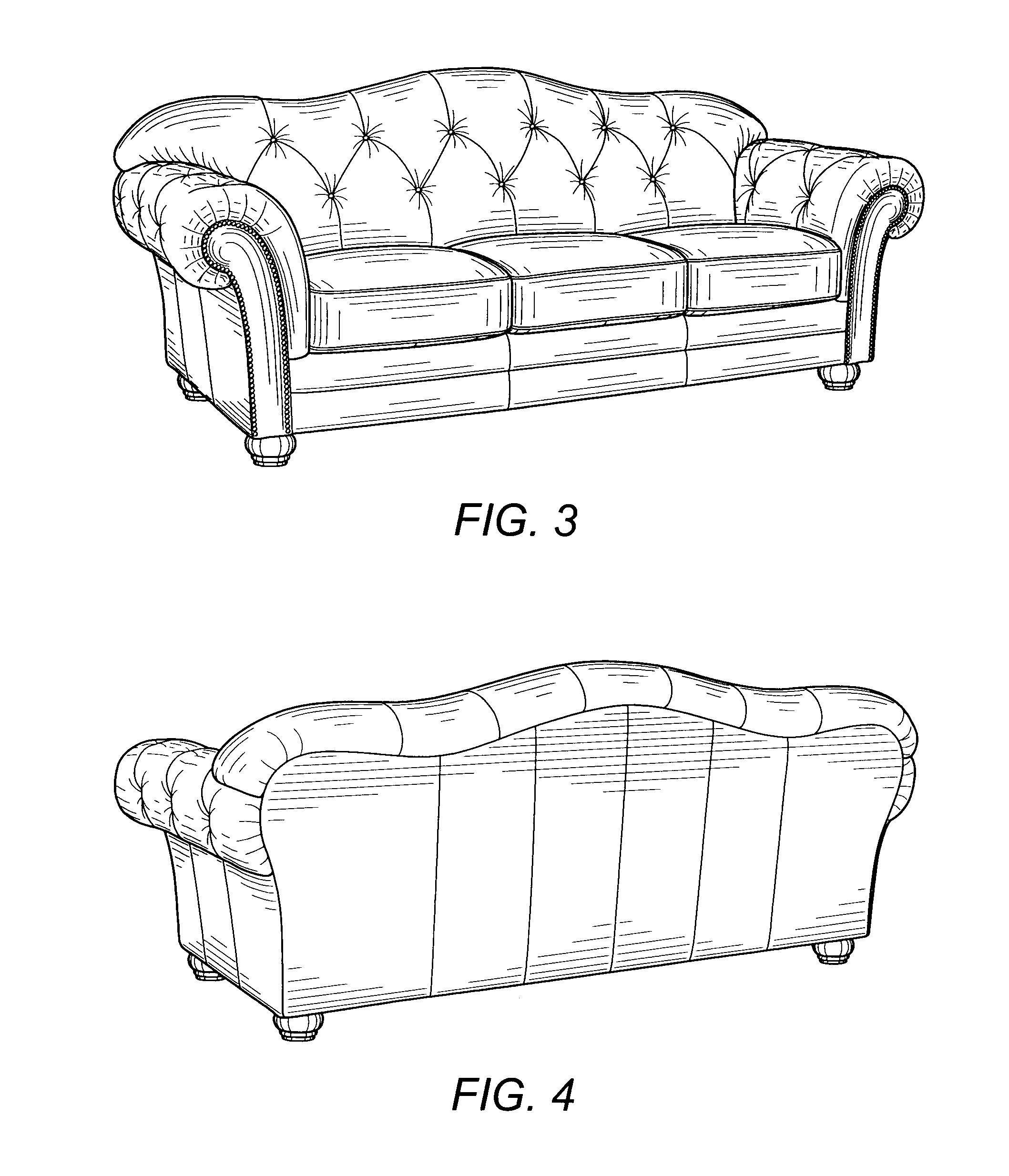 Plan And Elevation Of Sofa : Patent usd sofa google patents
