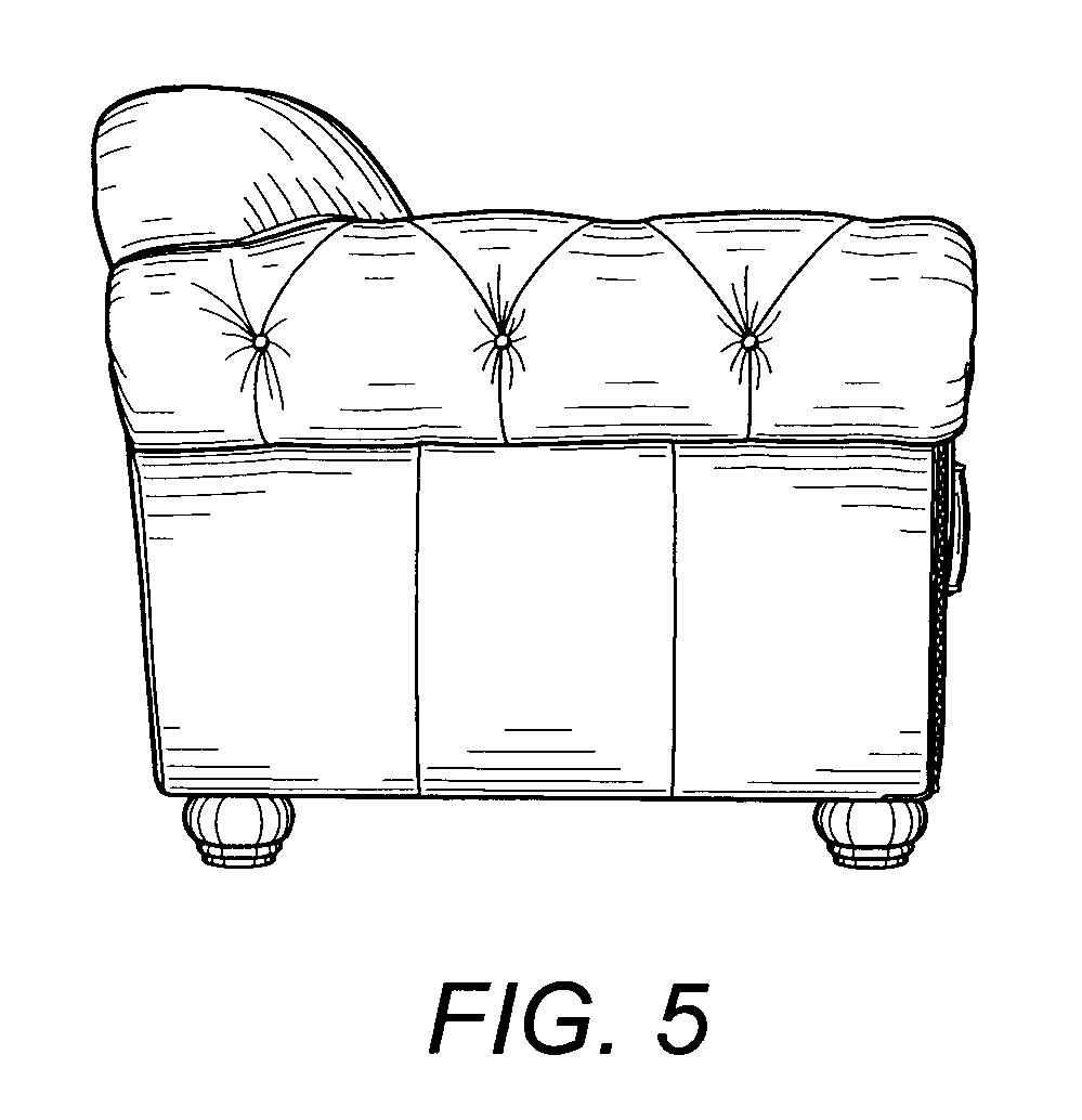 Front Elevation Of Sofa : Patent usd sofa google patents