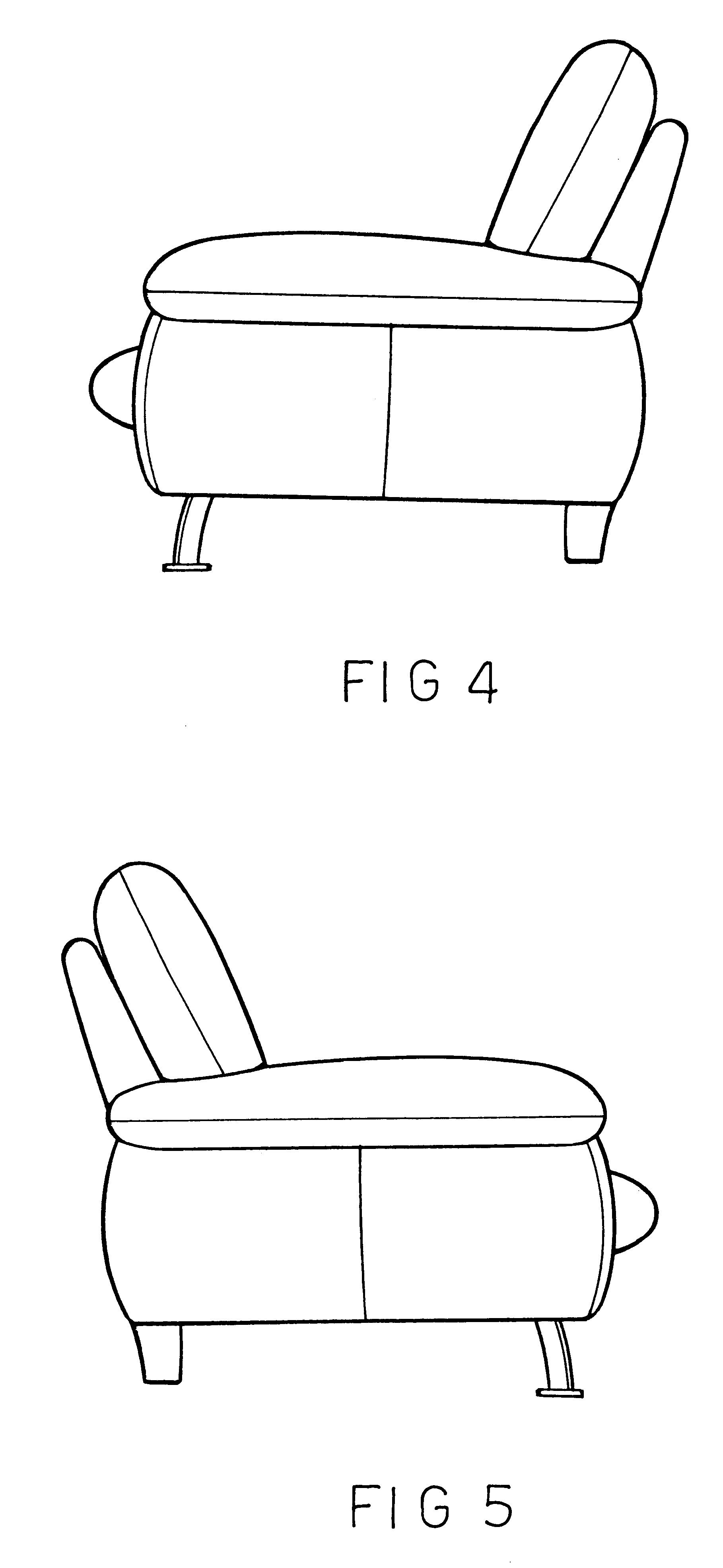 couch drawing side view. patent drawing couch side view n