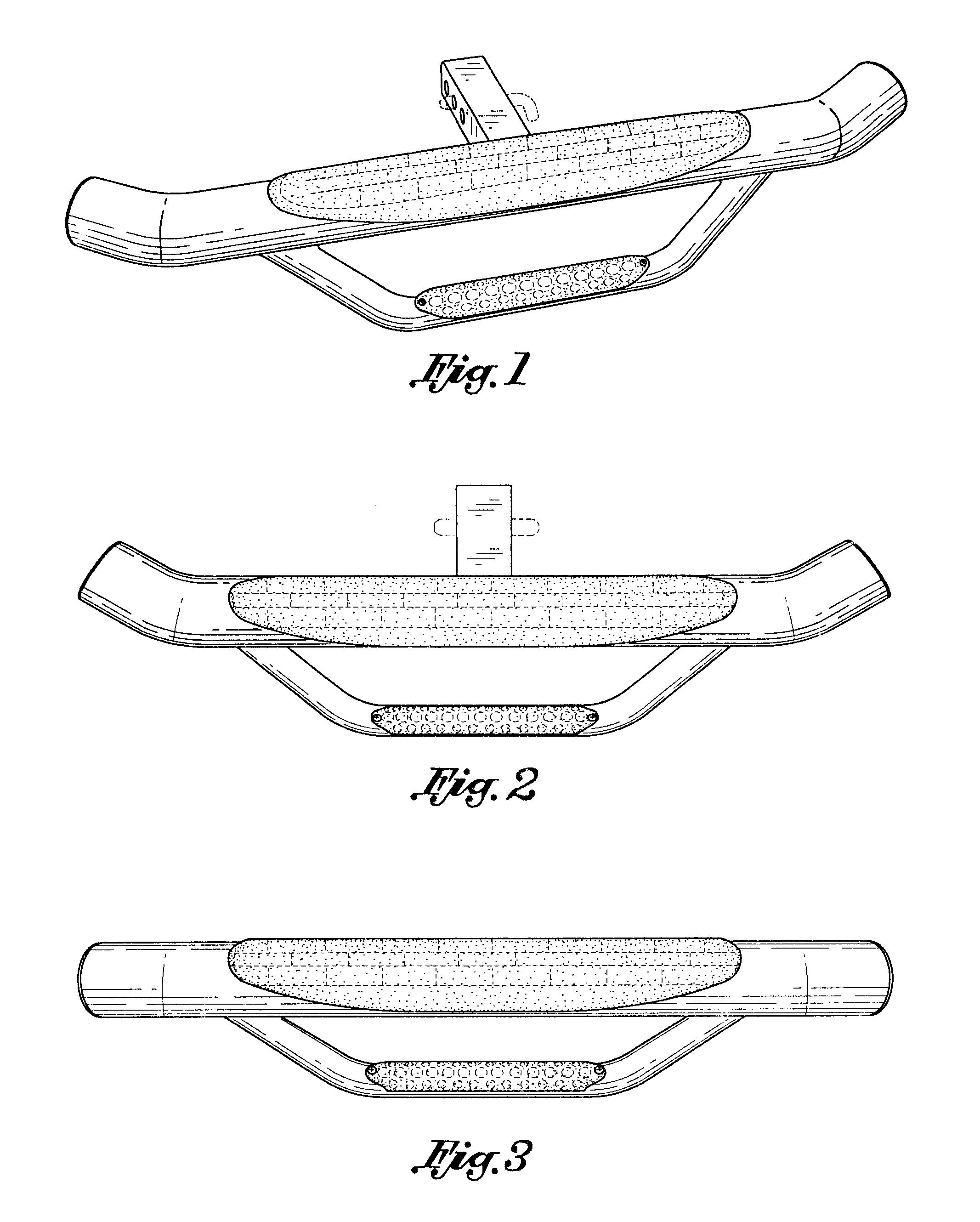 patent usd532354 - trailer hitch bumper  step