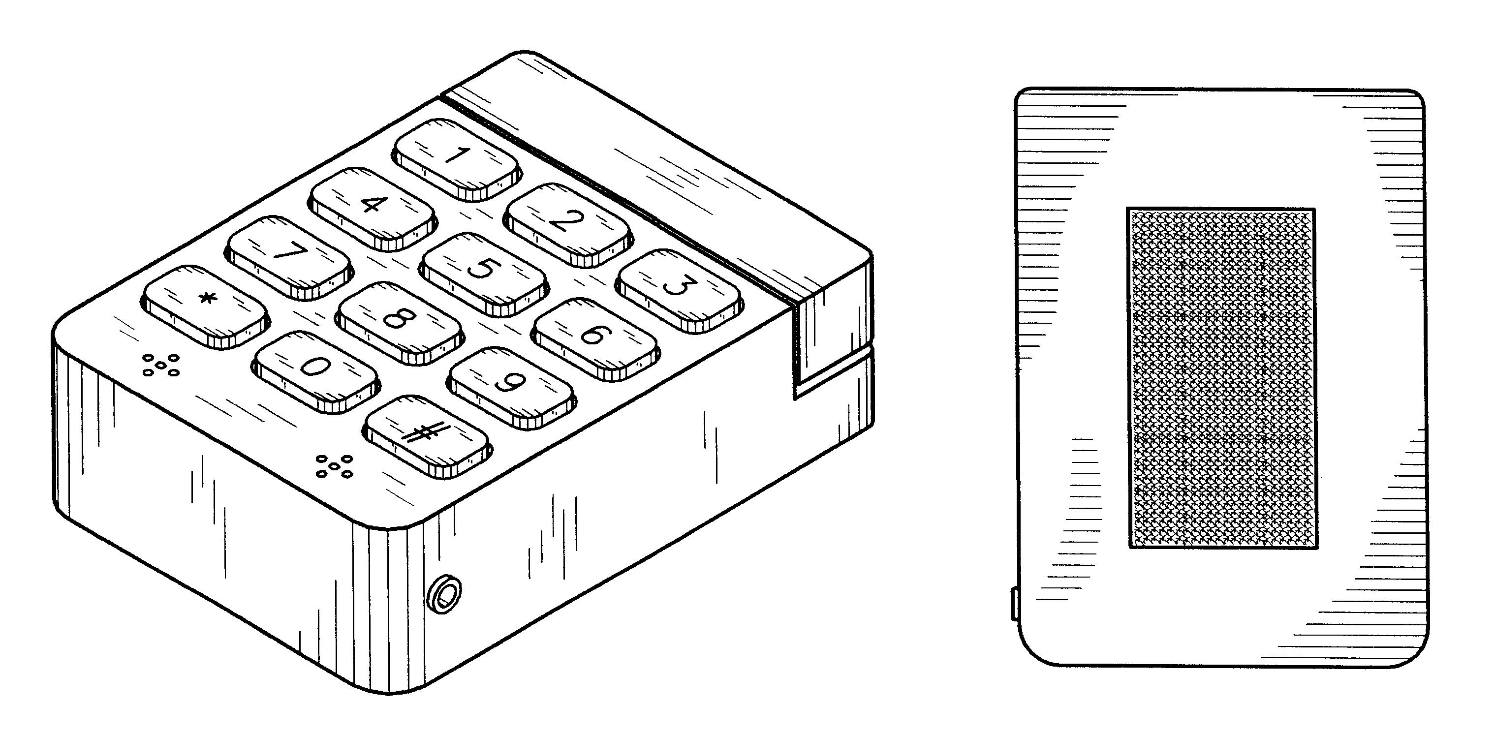 patent usd538274 - cell phone keypad